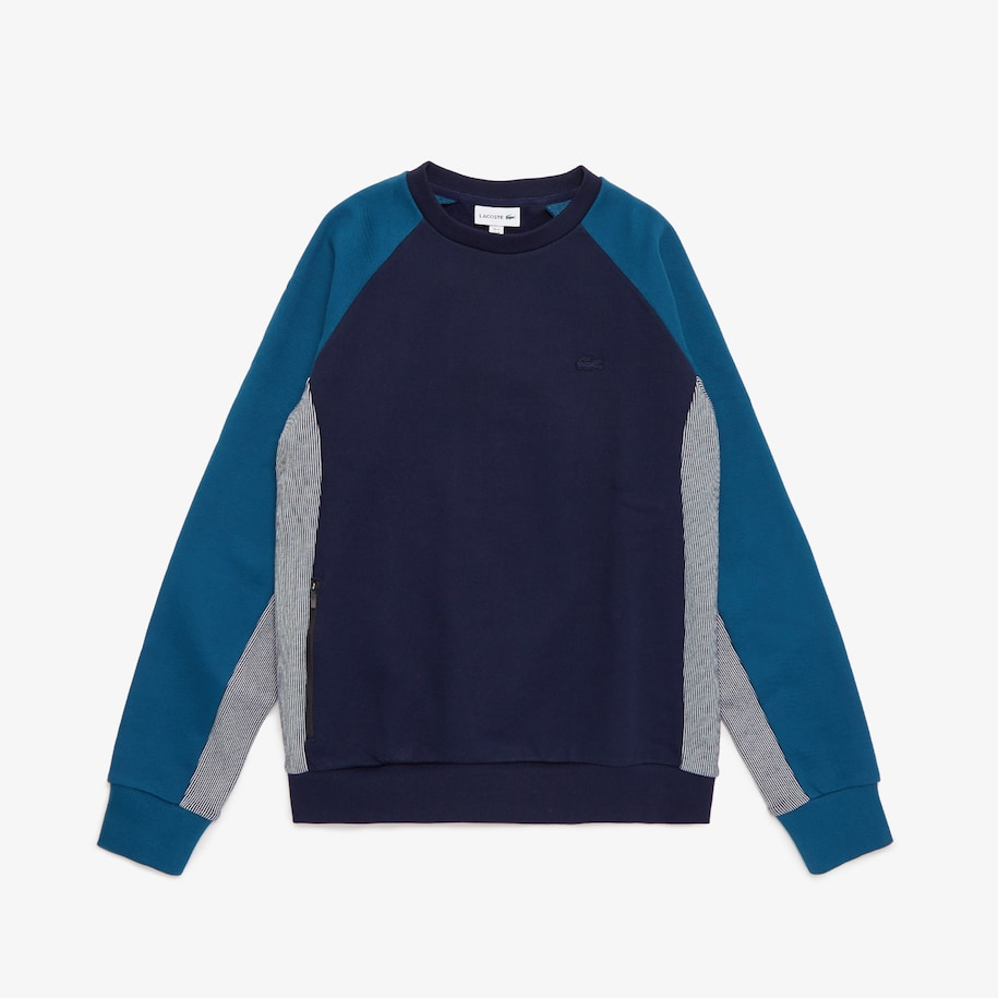 Men's Lacoste Motion Colourblock Crew Neck Sweatshirt