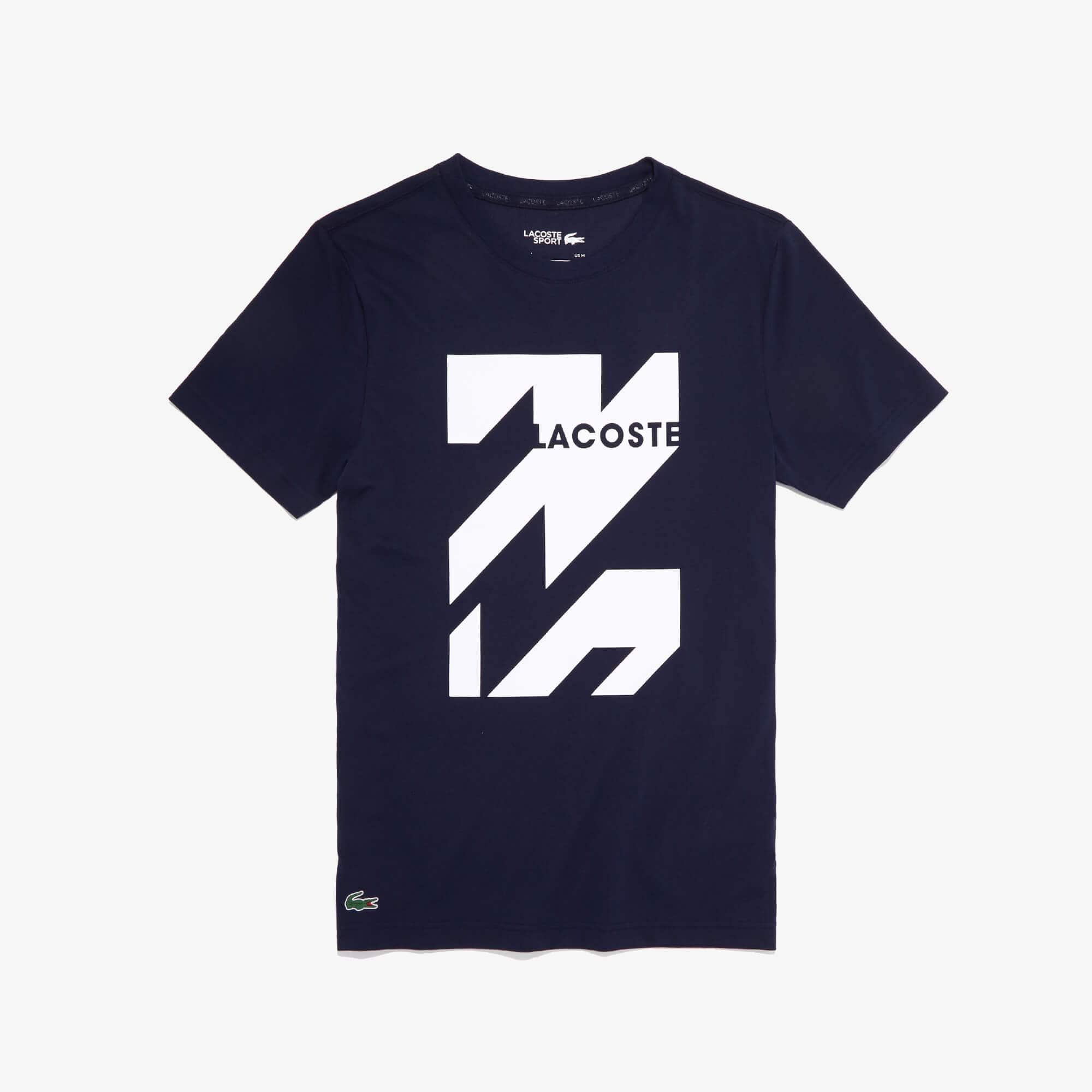 Lacoste Tops Men's SPORT Graphic Print Breathable T-shirt