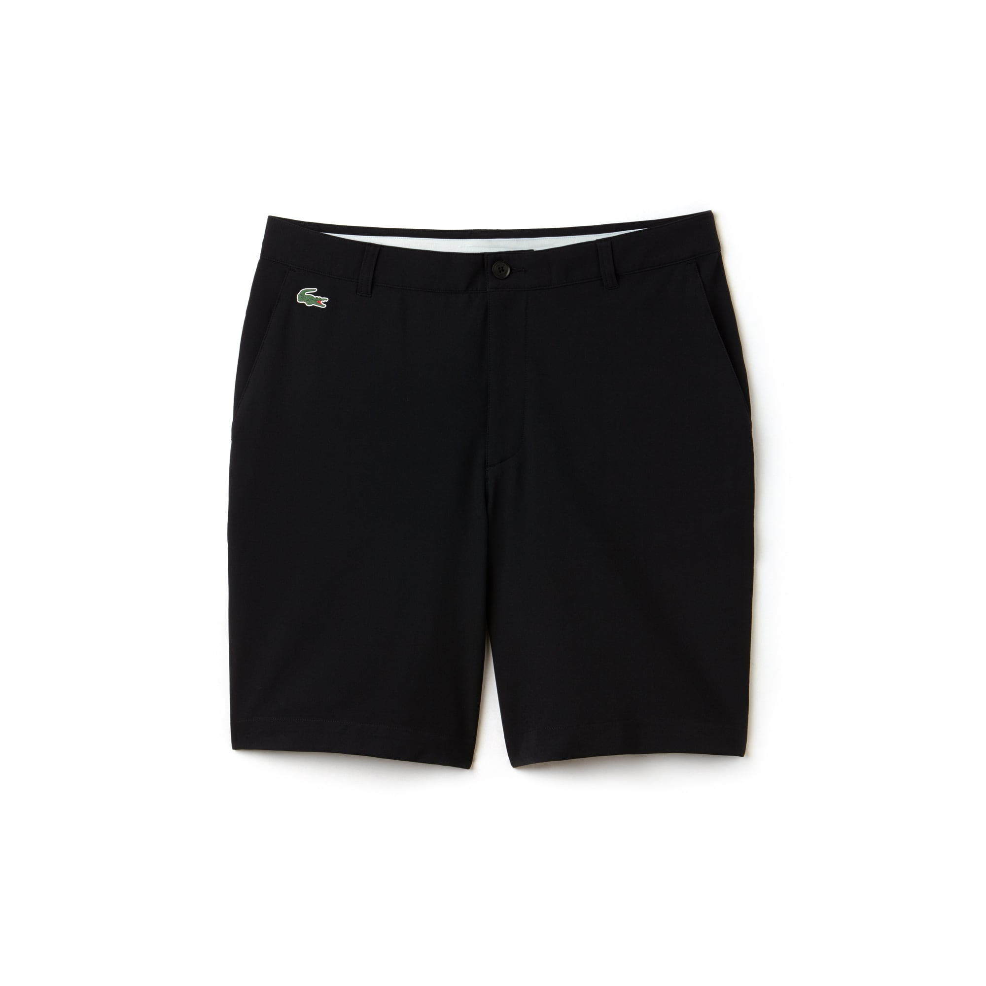 라코스테 Lacoste Mens SPORT Stretch Taffeta Technical Golf Bermuda Shorts,black