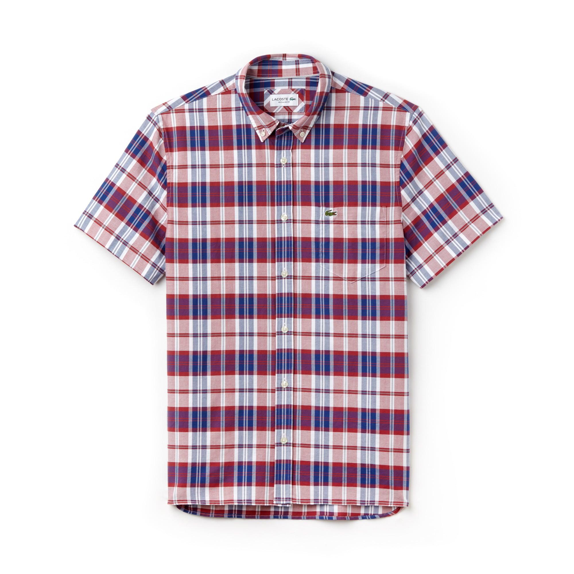 Men's Regular Fit Check Oxford Shirt