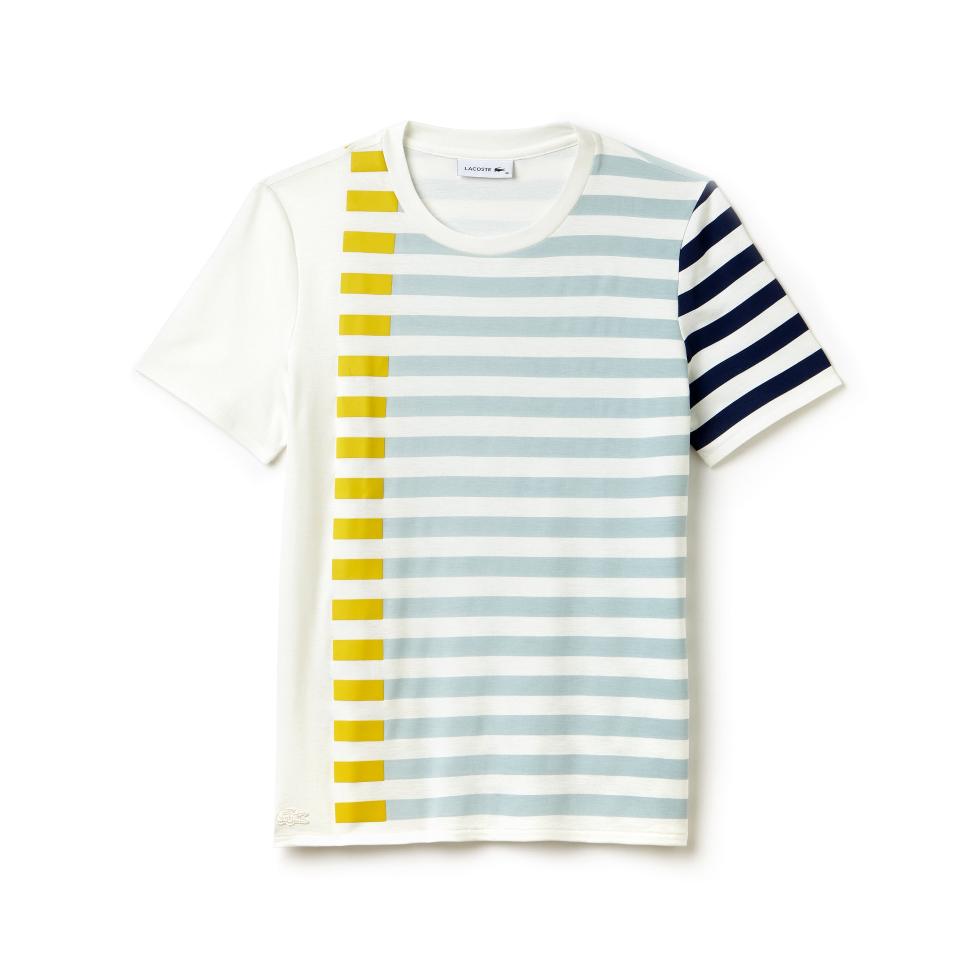 Women's Flowing Striped Colorblock Milano Knit T-shirt