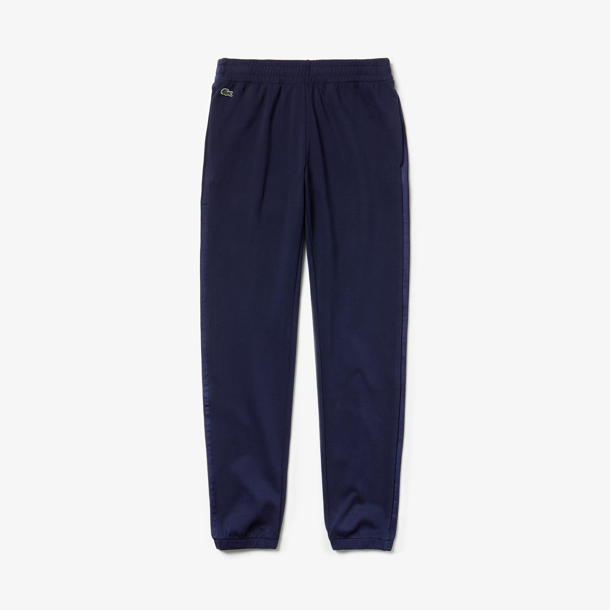 라코스테 Lacoste Womens SPORT Pique Tennis Sweatpants,Navy Blue / Navy Blue