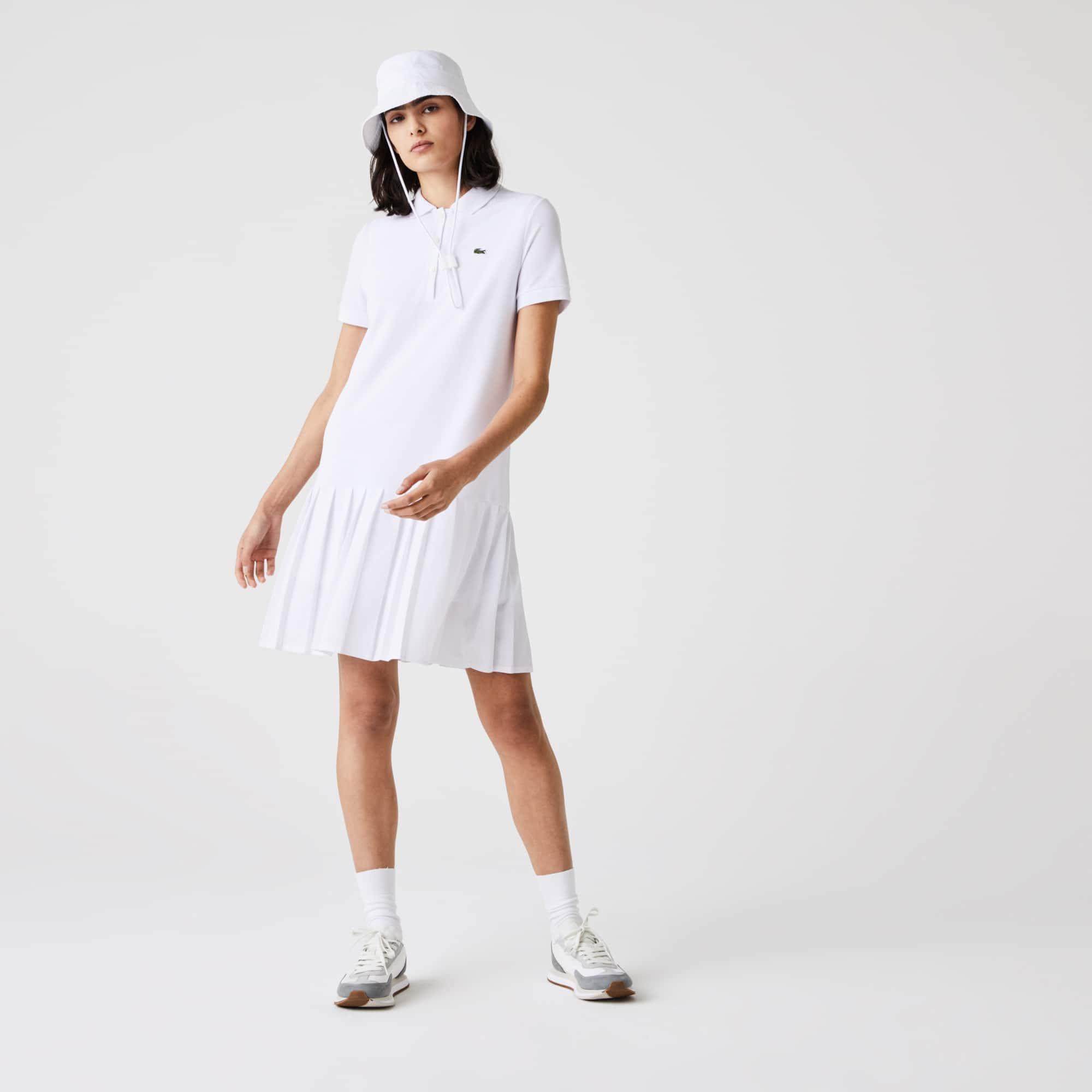 라코스테 스포츠 롤랑가로스 플리츠 폴로 원피스 Lacoste Womens SPORT Roland Garros Pleated Polo Dress