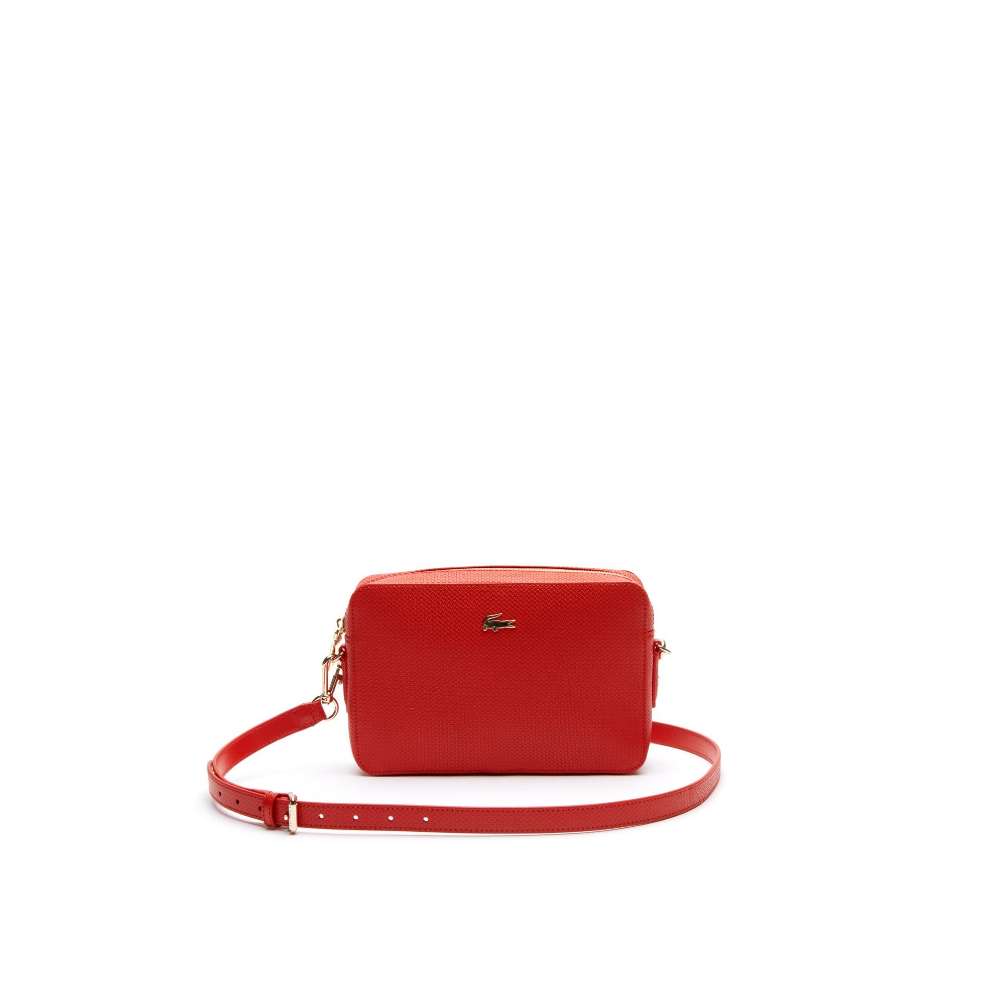 c62fd7403dc Women's Chantaco Piqué Leather Square Shoulder Bag   LACOSTE
