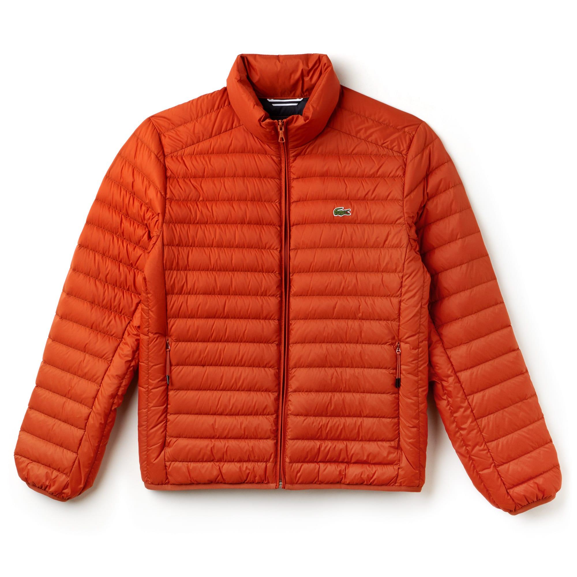 라코스테 초경량 퀼팅 자켓 오렌지 Lacoste Mens Short Contrast Lining Quilted Jacket, nevada orange, BH9389-51