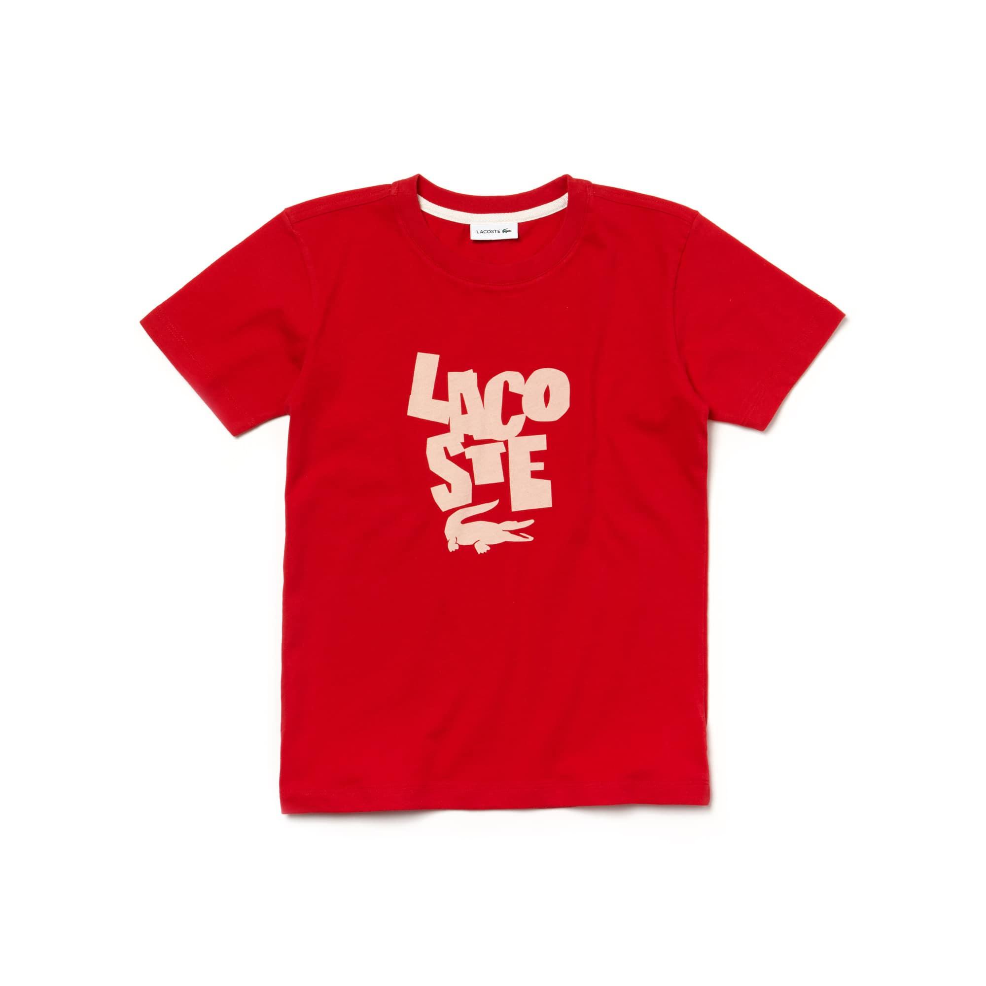 Boys' Crew Neck Lettering T-Shirt