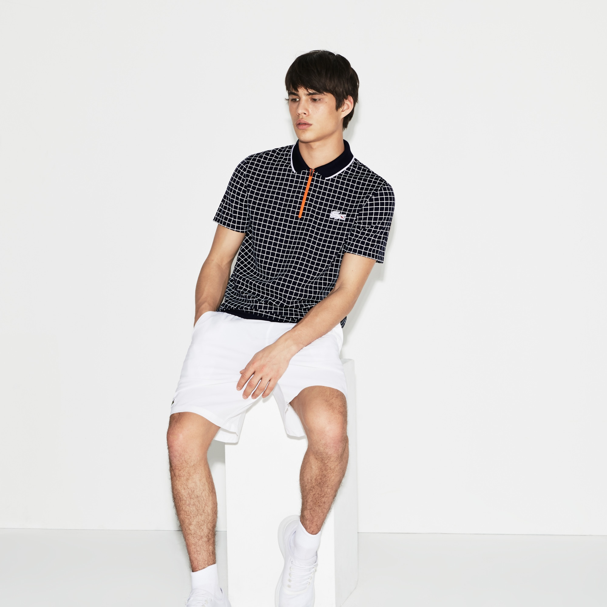 Men's SPORT Roland Garros Edition Print Tech Piqué Polo