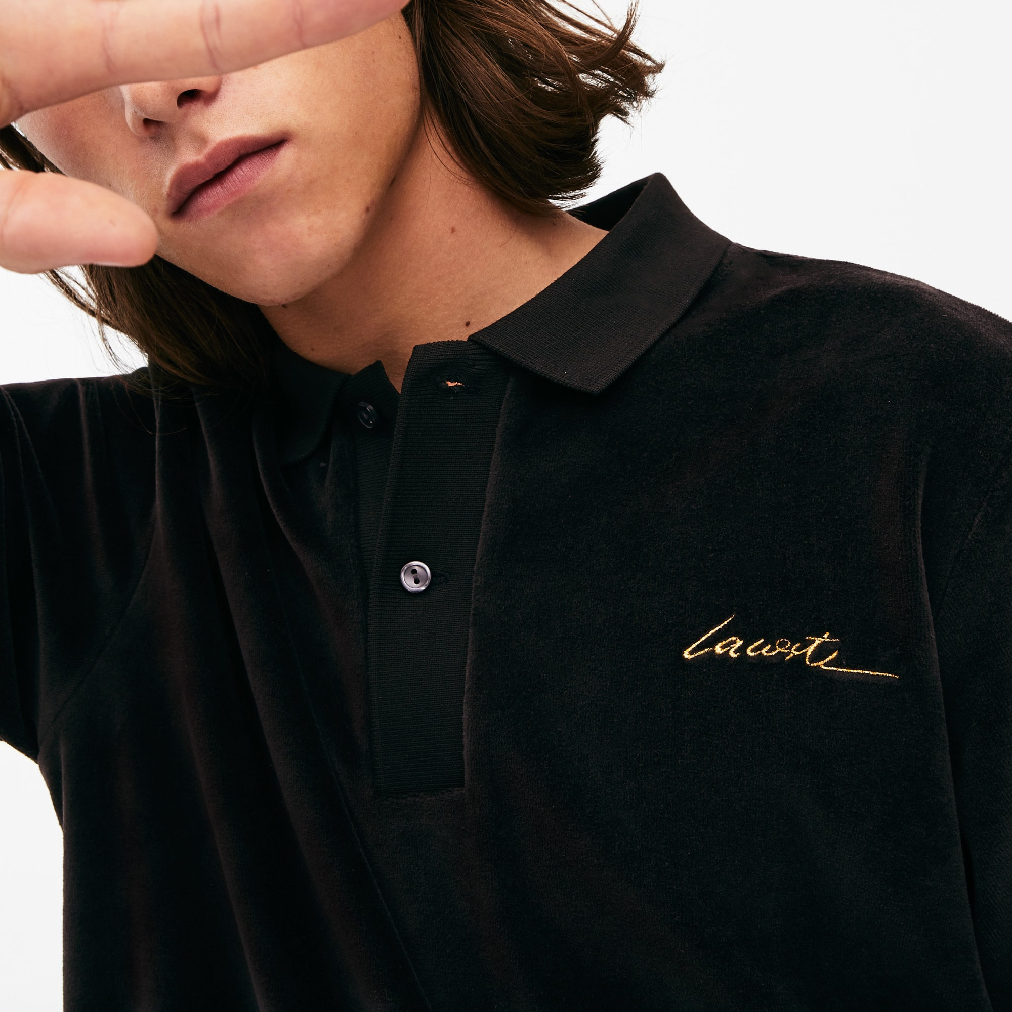 Men's LIVE Classic Fit Velvet Polo Shirt