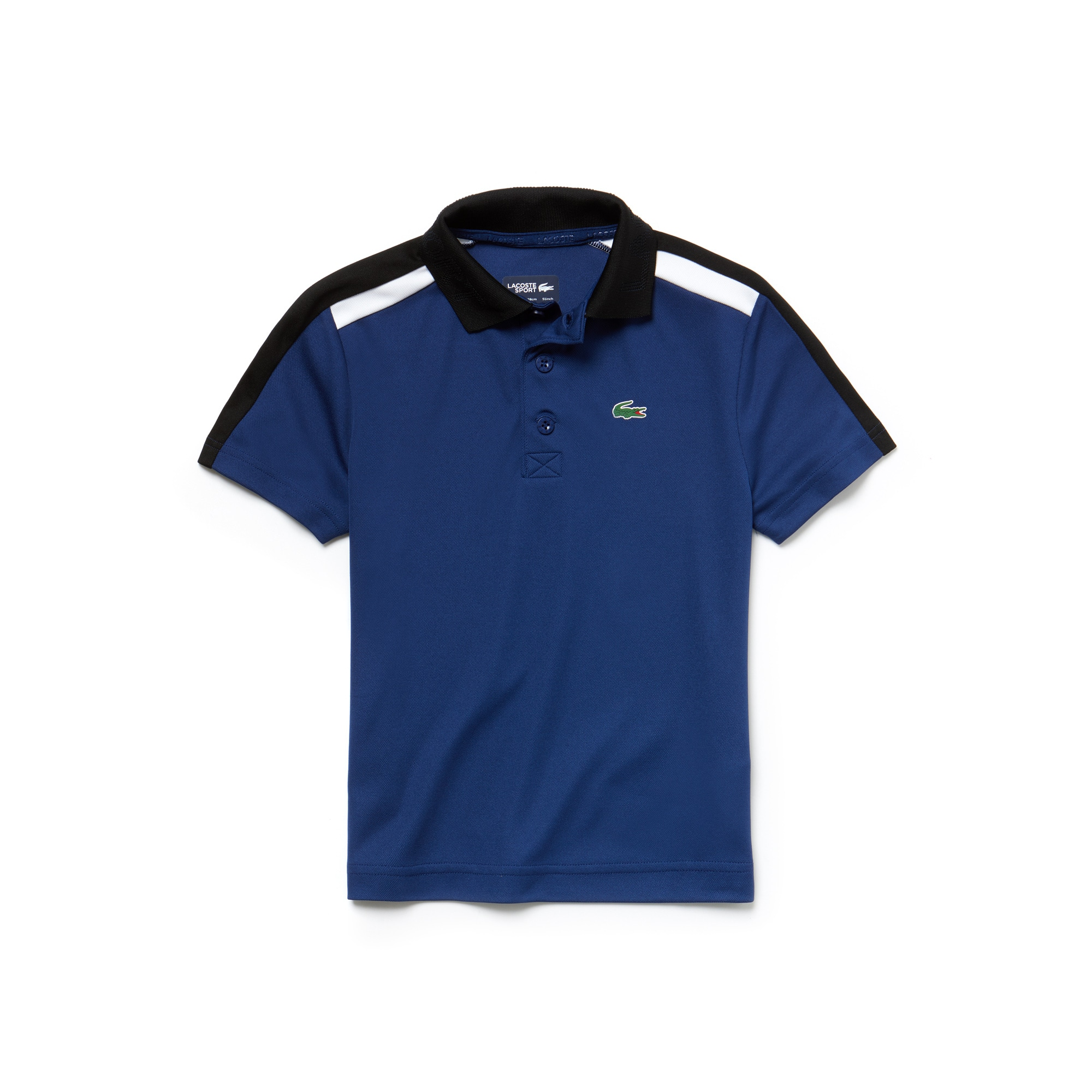 Boys' SPORT Contrast Bands Piqué Tennis Polo