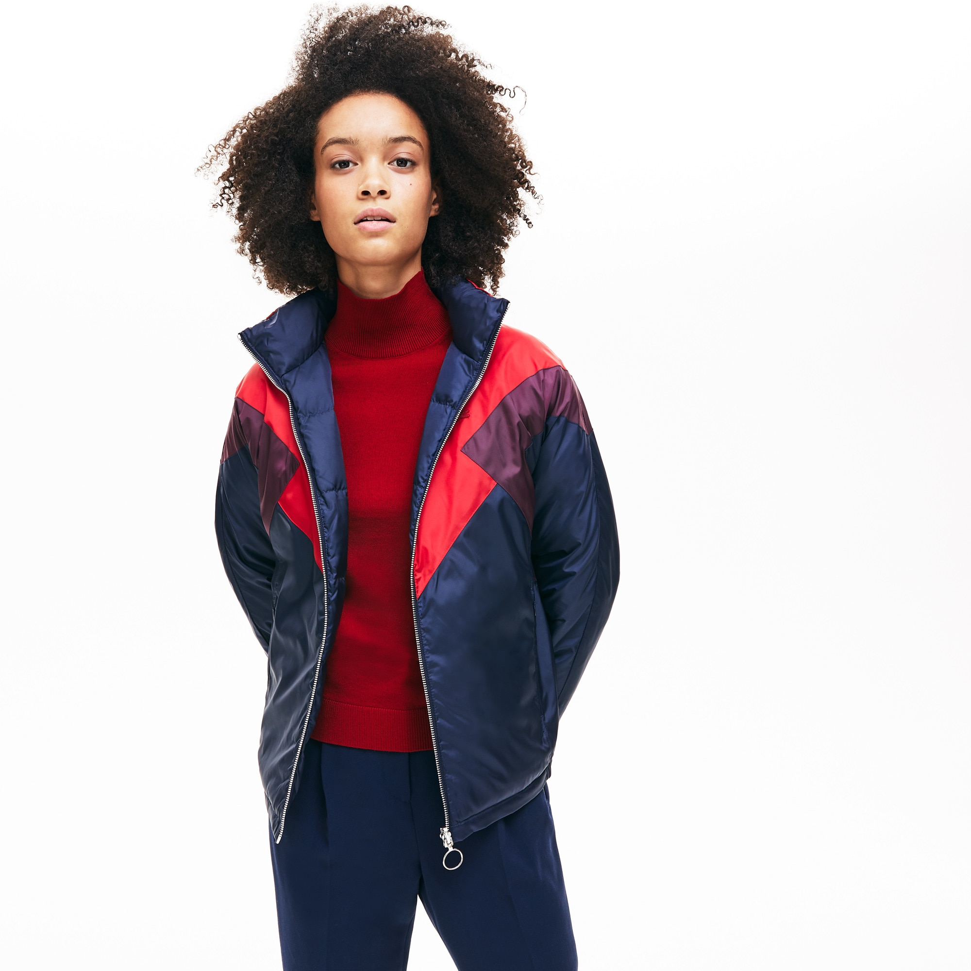 Women's Reversible Color-Blocked Water-Resistant Quilted Jacket