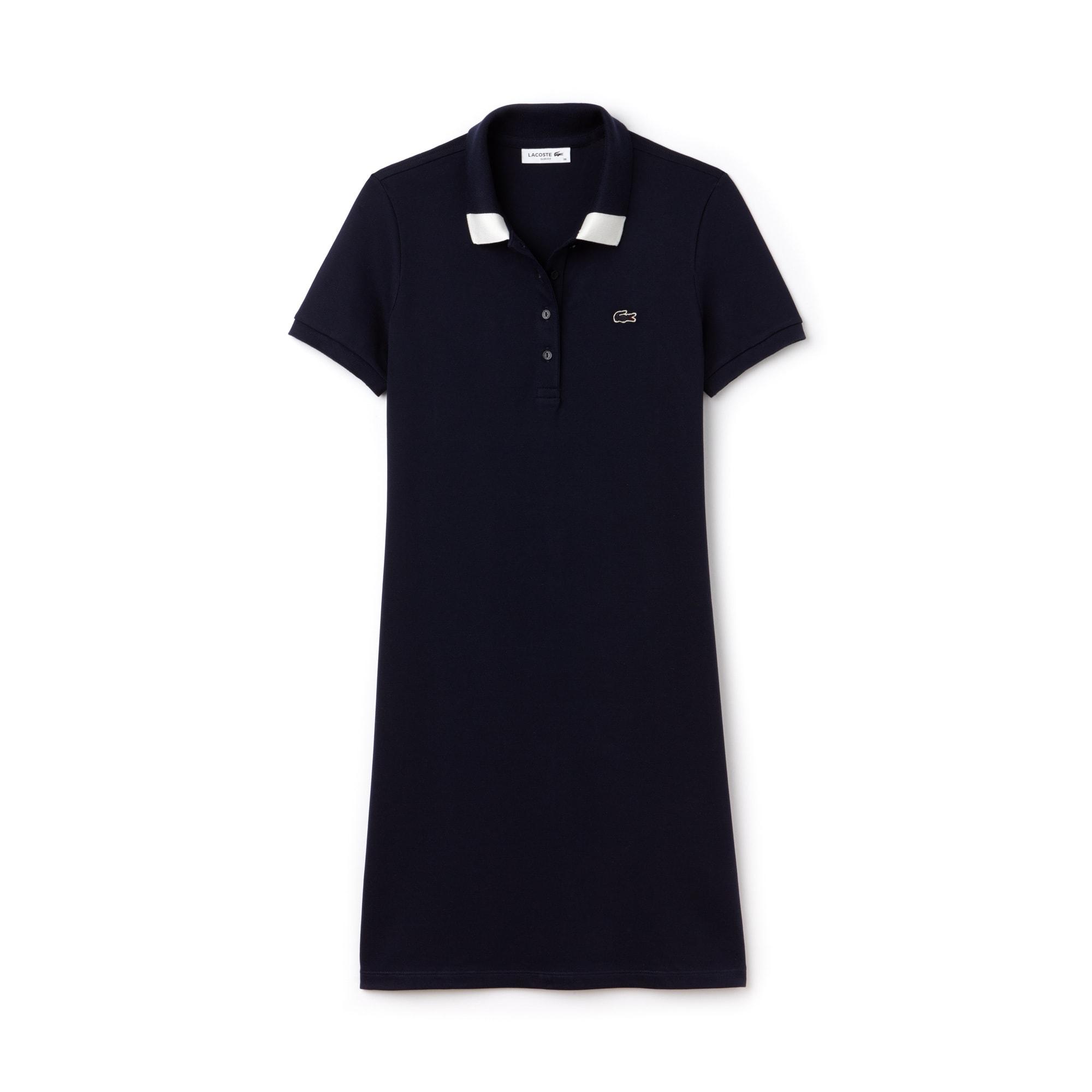 Women's Slim Fit Polo Piqué Dress