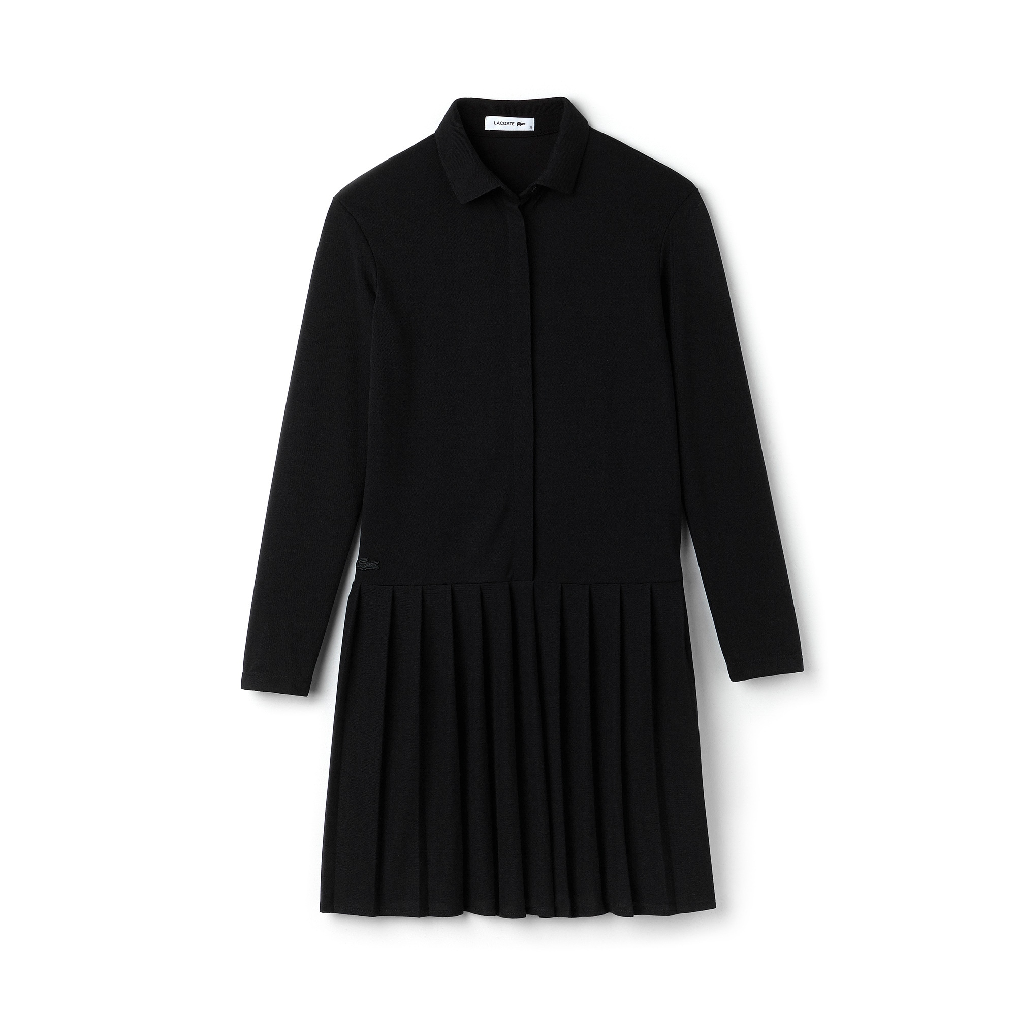 Women's Petit Piqué Polo Dress With Pleated Skirt