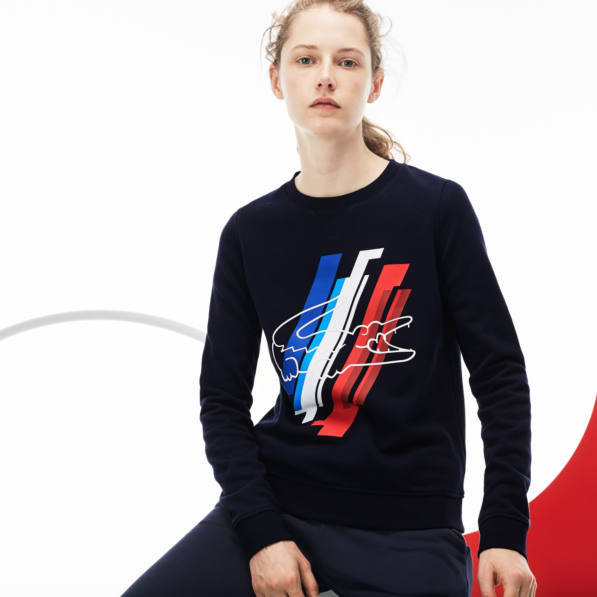 Women's Tricolor Collection Print Fleece Sweatshirt