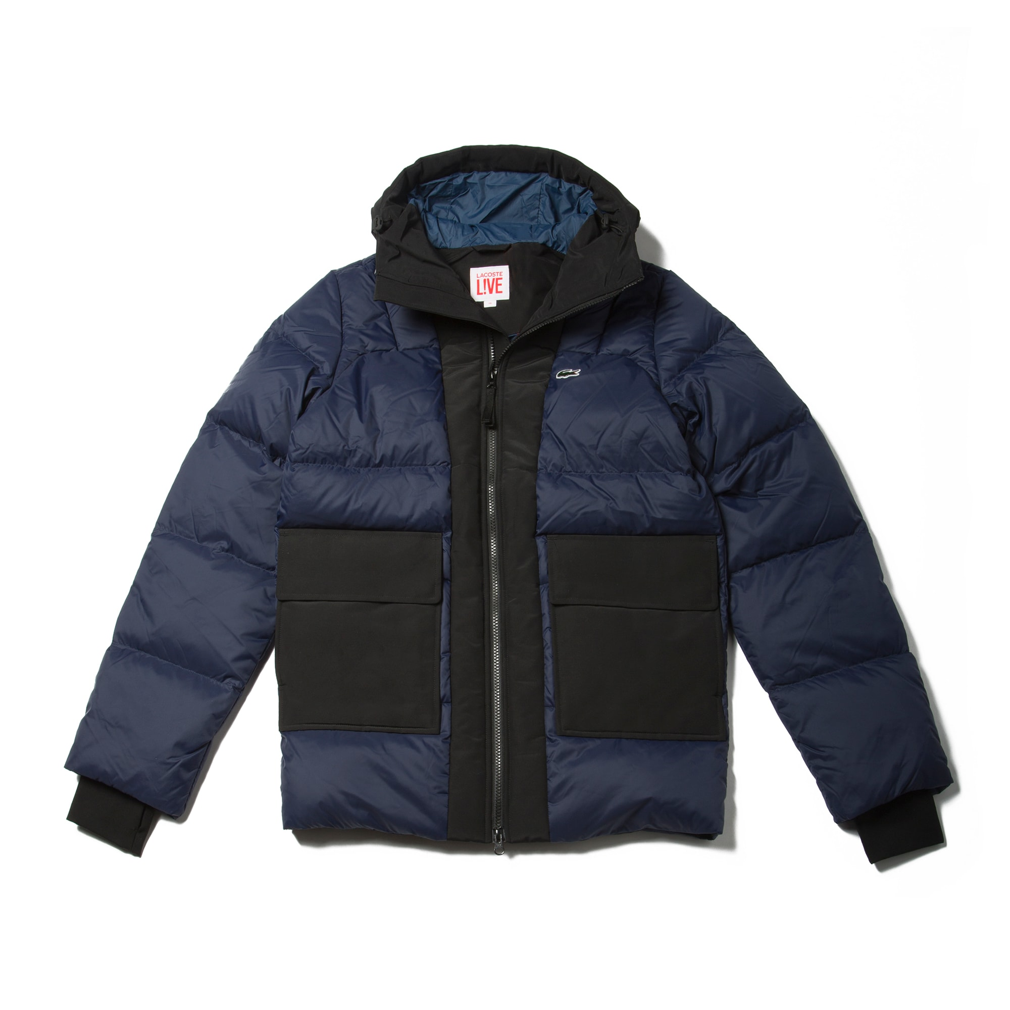 Men's  LIVE Hooded Colorblock Quilted Jacket