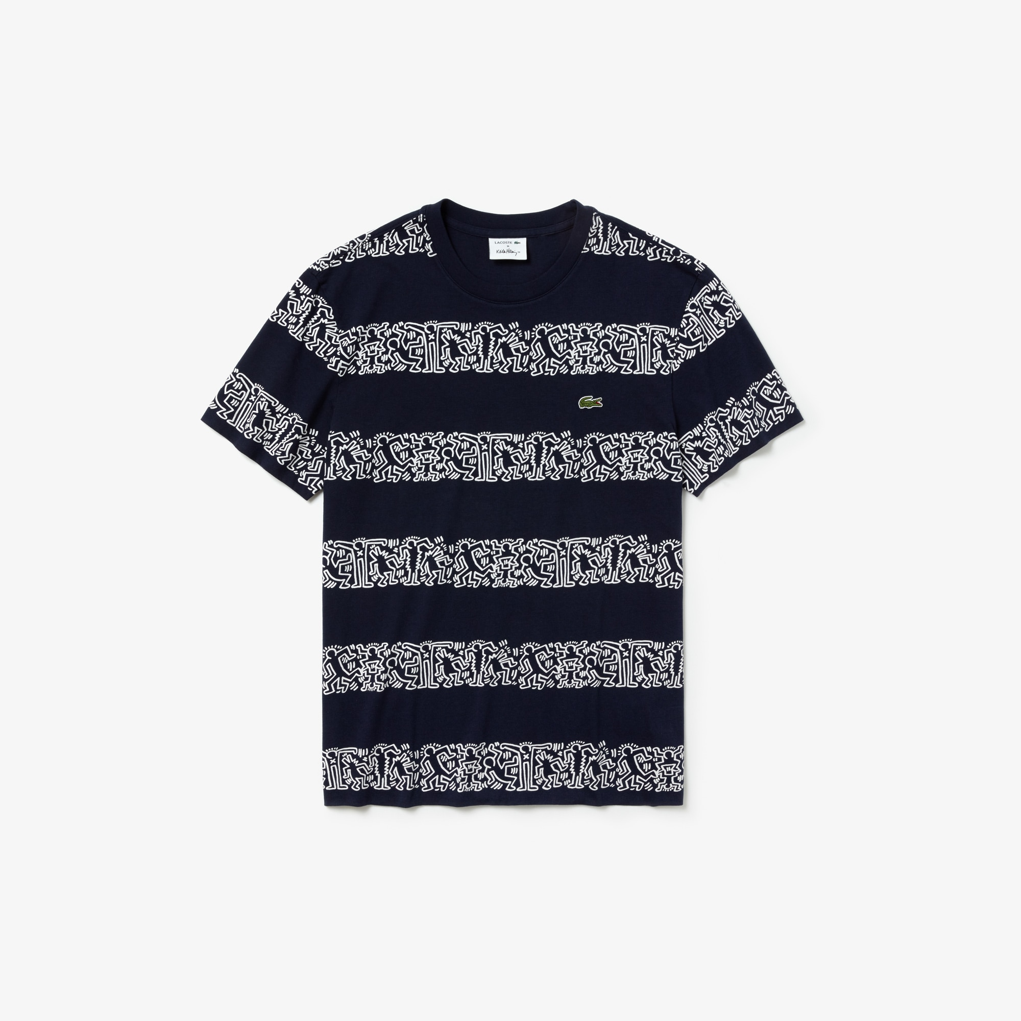 men 39 s keith haring print cotton t shirt lacoste. Black Bedroom Furniture Sets. Home Design Ideas