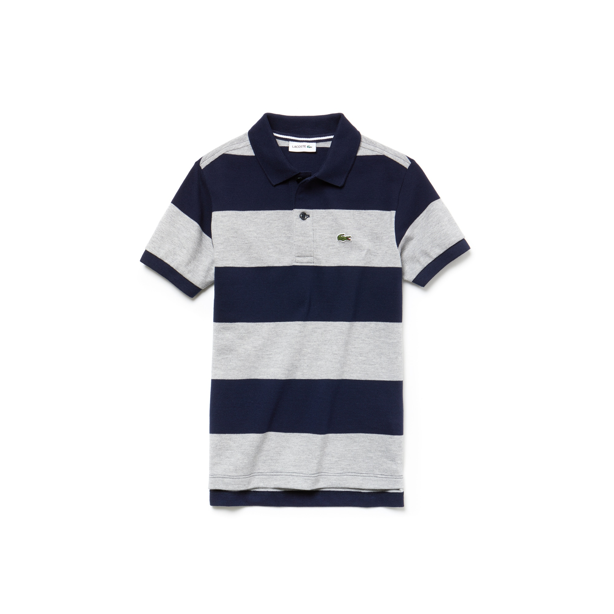 Boys'  Striped Cotton Petit Piqué Polo Shirt
