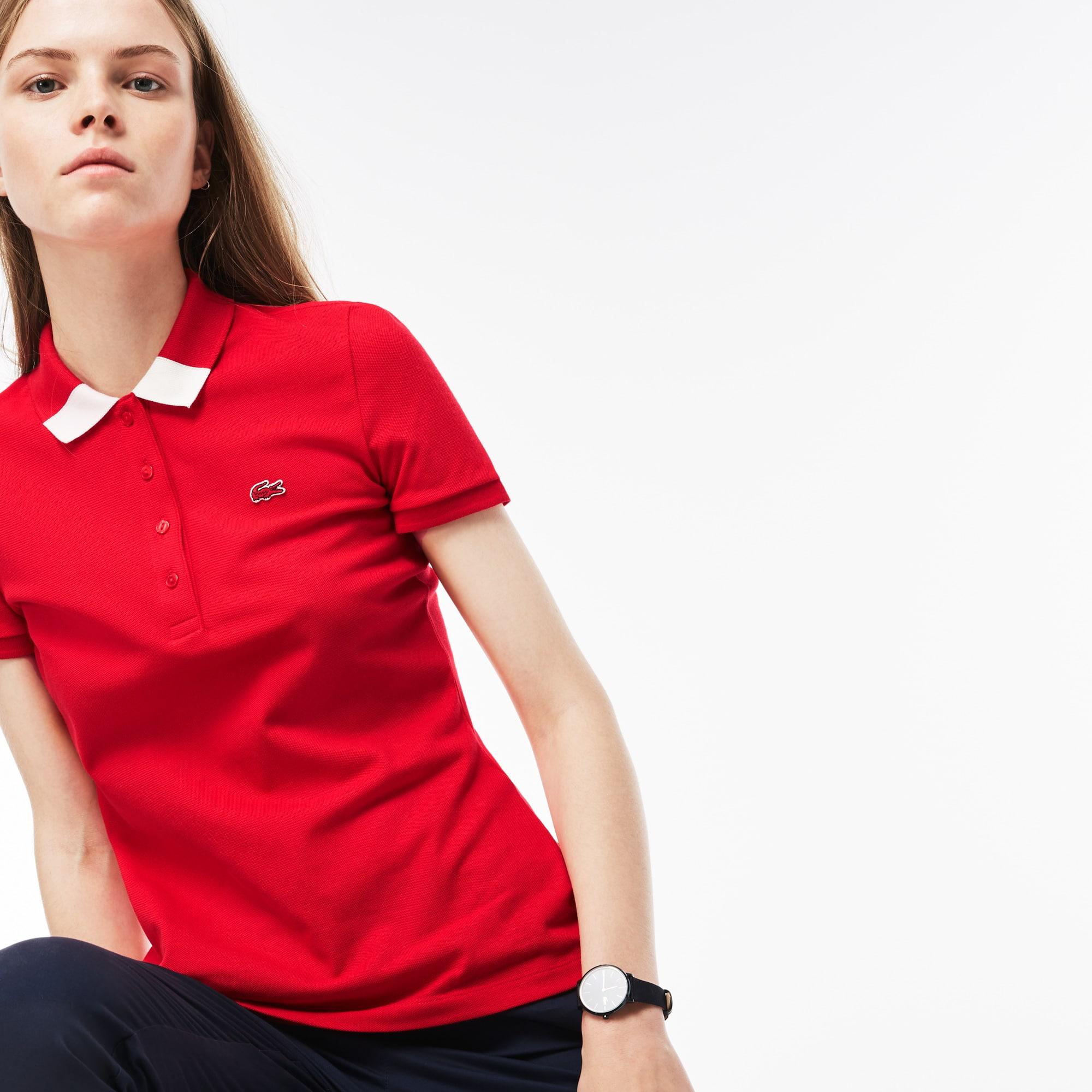 Women's Slim Fit Stretch Piqué Polo