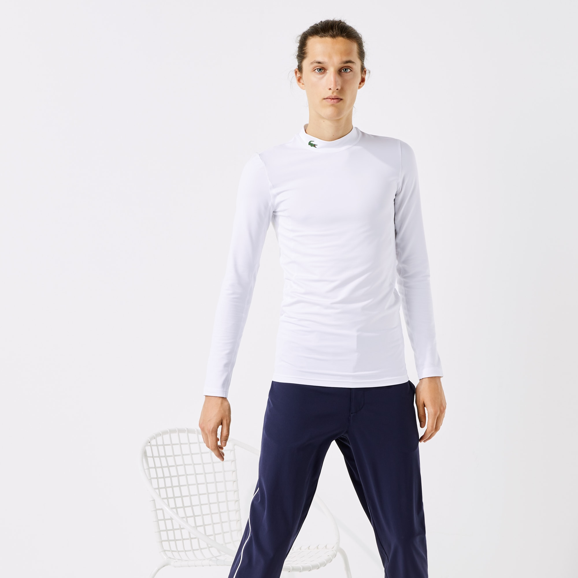 라코스테 스포츠 골프 티셔츠 Lacoste Mens SPORT Stand-Up Neck Technical Jersey Golf T-shirt