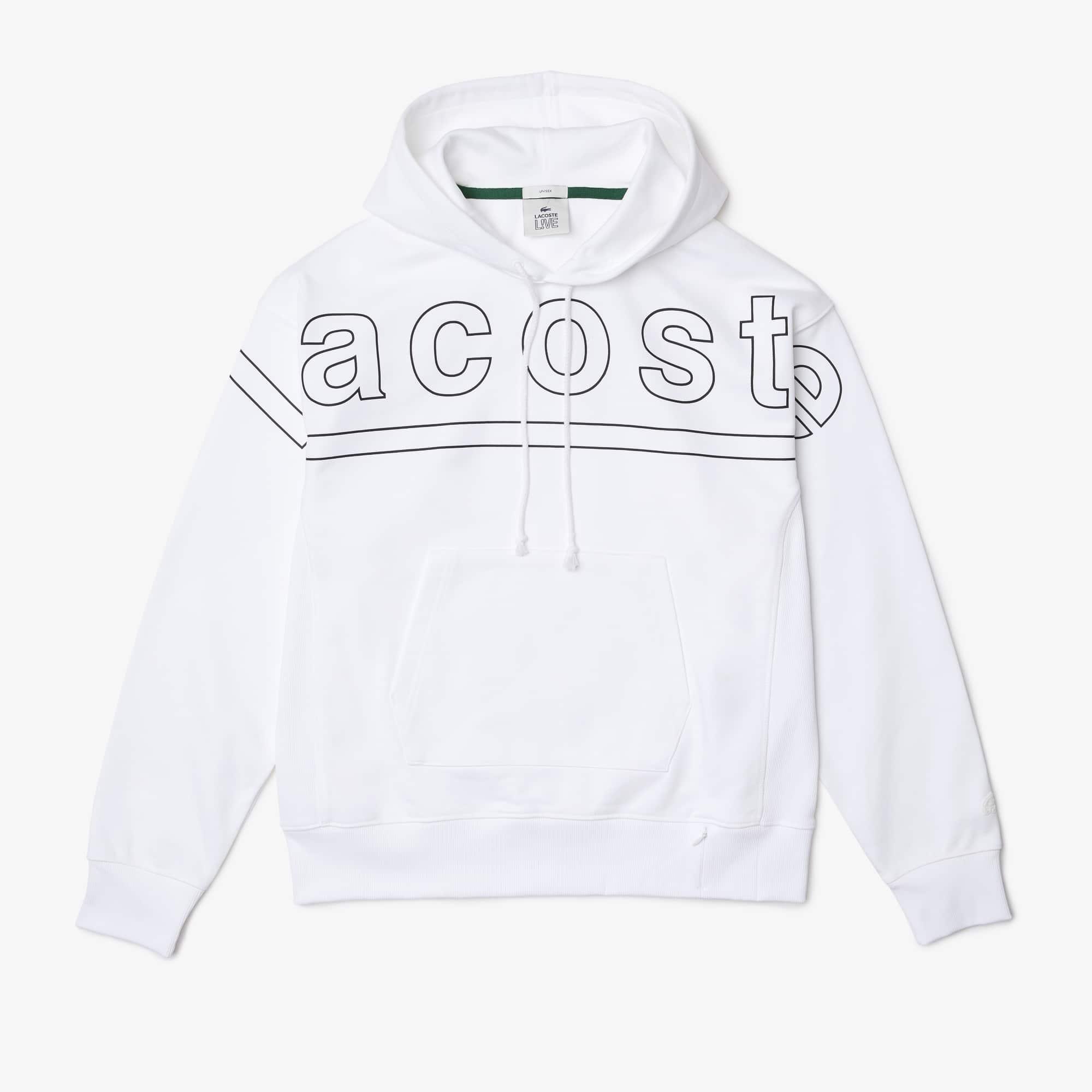 라코스테 라이브 맨 루즈핏 후드티 Lacoste Men's LIVE Loose Fit Hooded Print Fleece Sweatshirt
