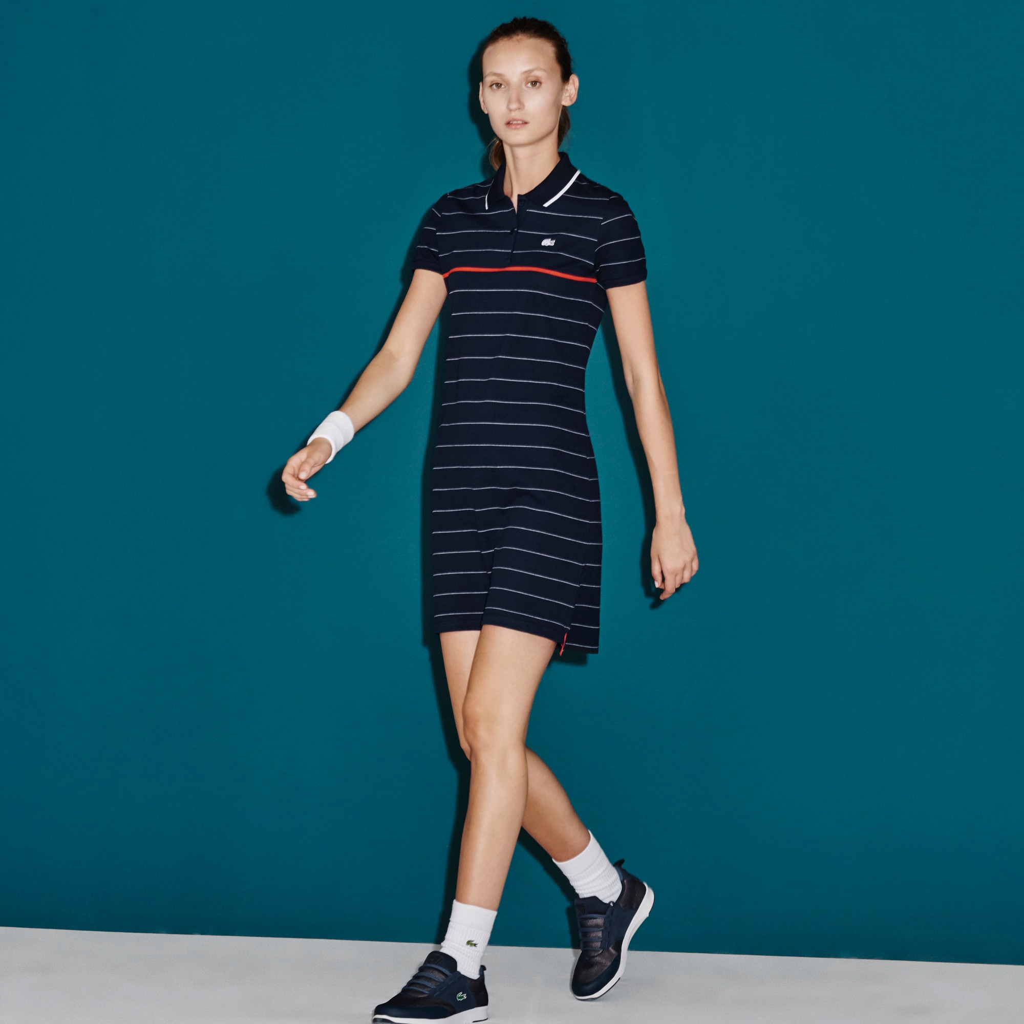 Women's SPORT French Open Striped Polo Dress