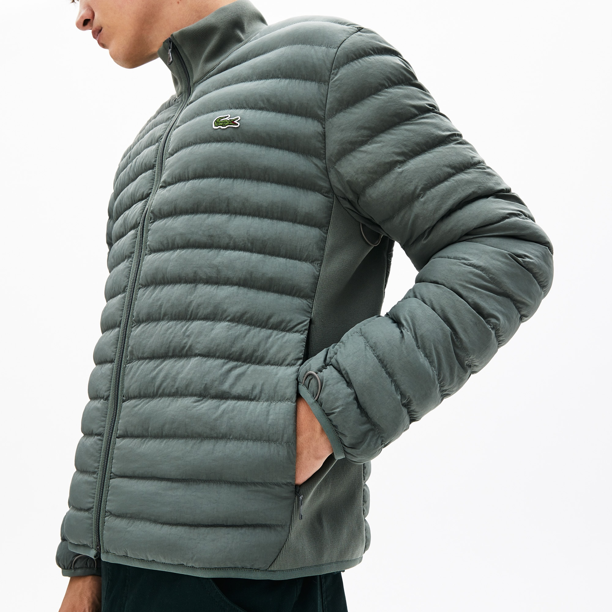 Men's Combinable Collapsible Lightweight Quilted Zip Jacket