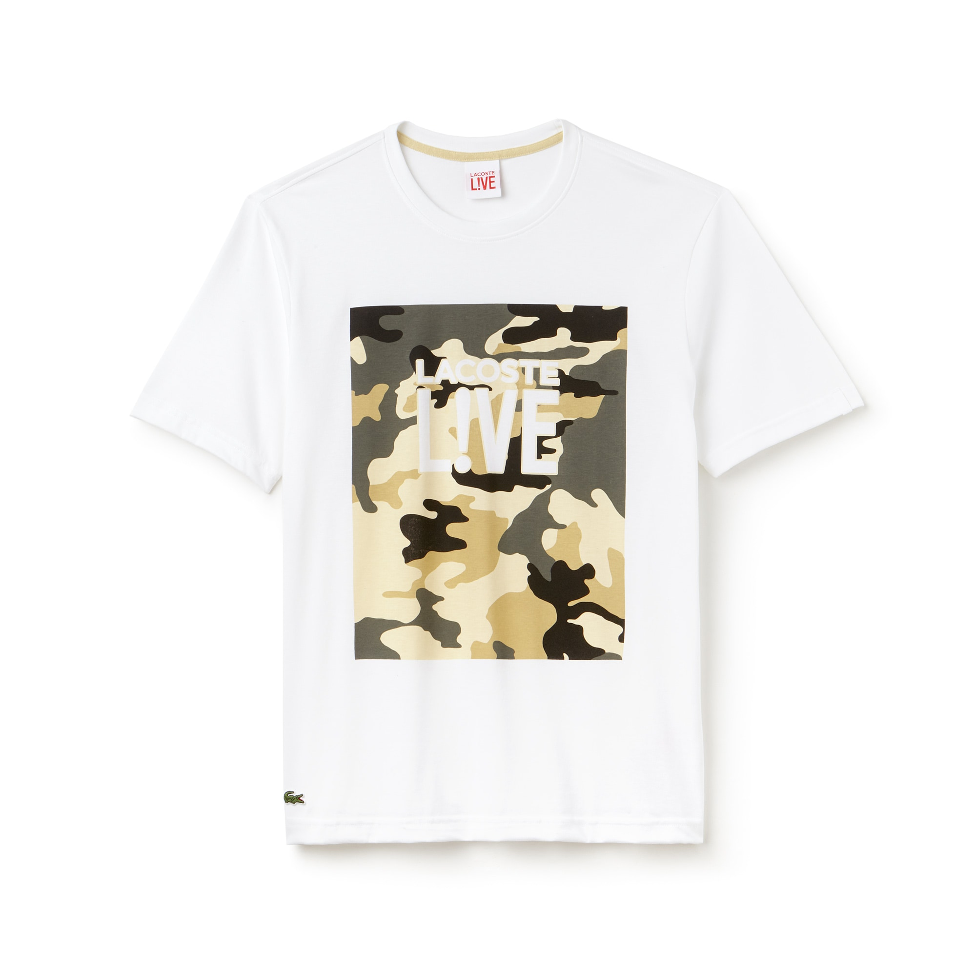 Men's LIVE Crew Neck Print Design T-Shirt