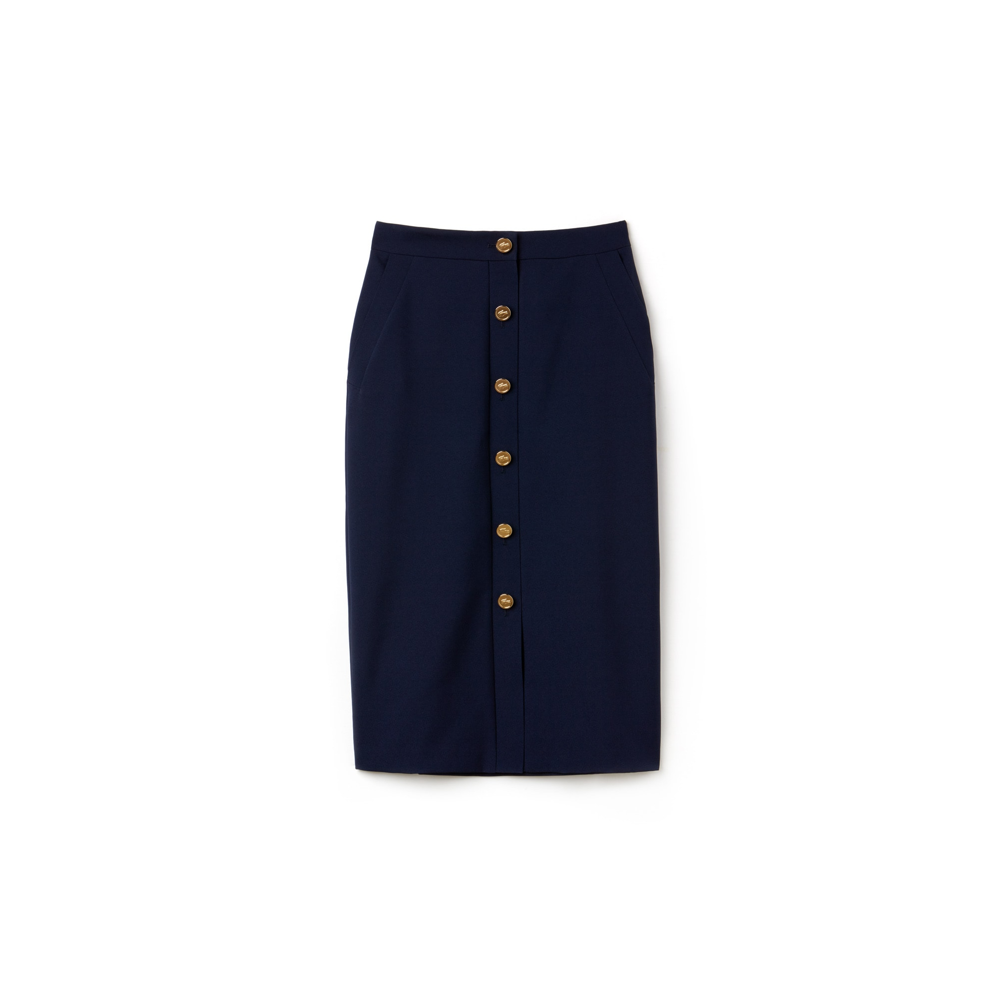 Women's Fashion Show High-Waisted Buttoned Skirt