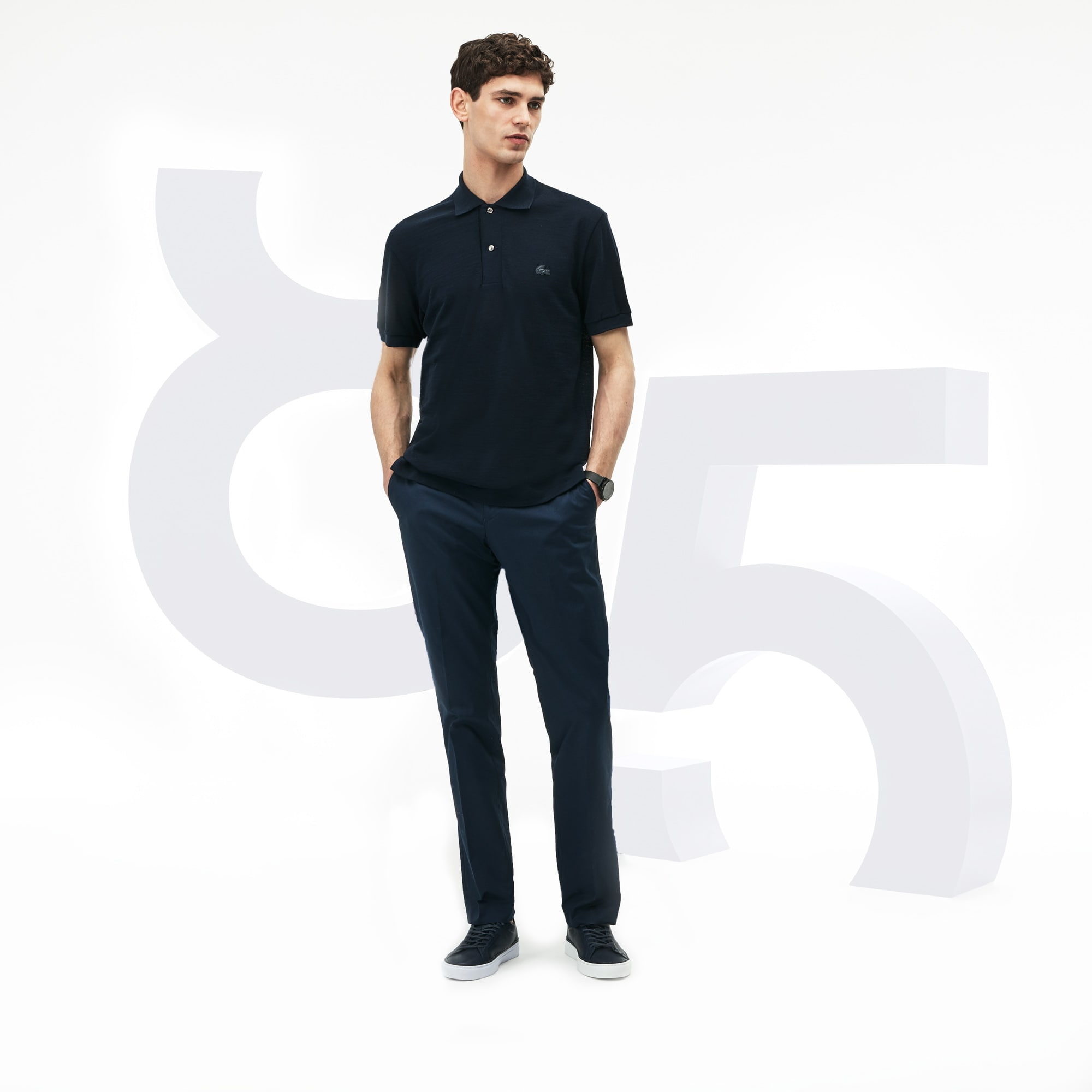 0ae725c853 MEN'S L.12.12 LIMITED EDITION 85TH ANNIVERSARY WOOL PIQUÉ POLO