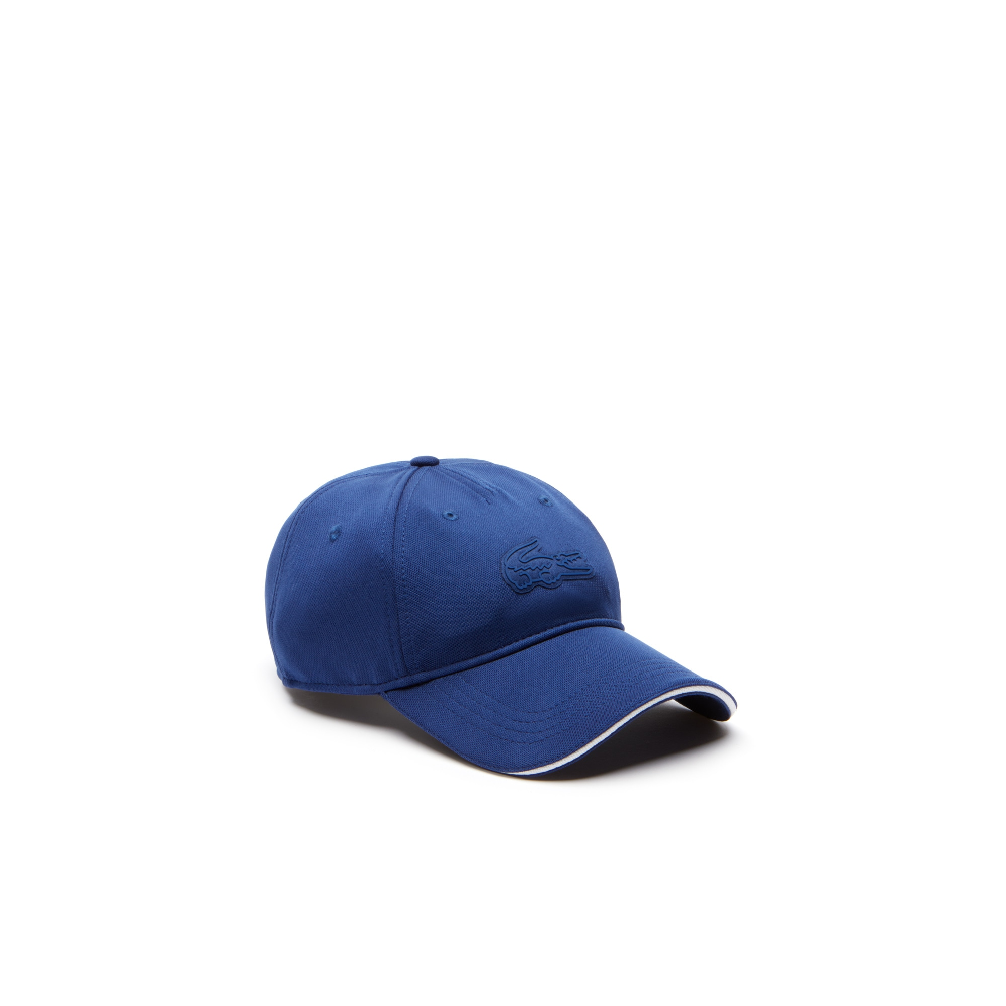 라코스테 Lacoste Unisex SPORT Oversized Crocodile Technical Pique Golf Cap,Navy Blue / White / Navy Blue