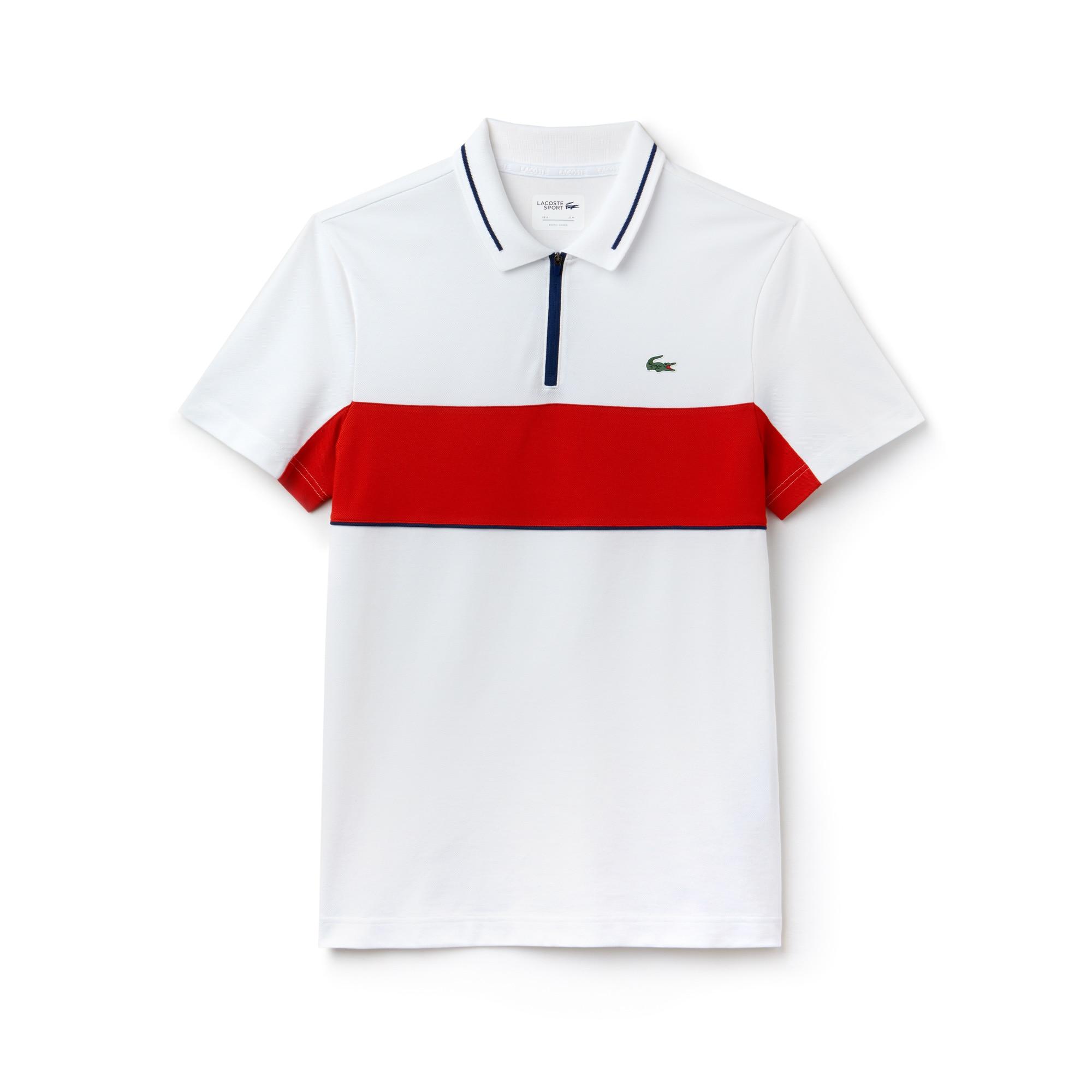 Men's SPORT Contrast Bands Technical Piqué Golf Polo