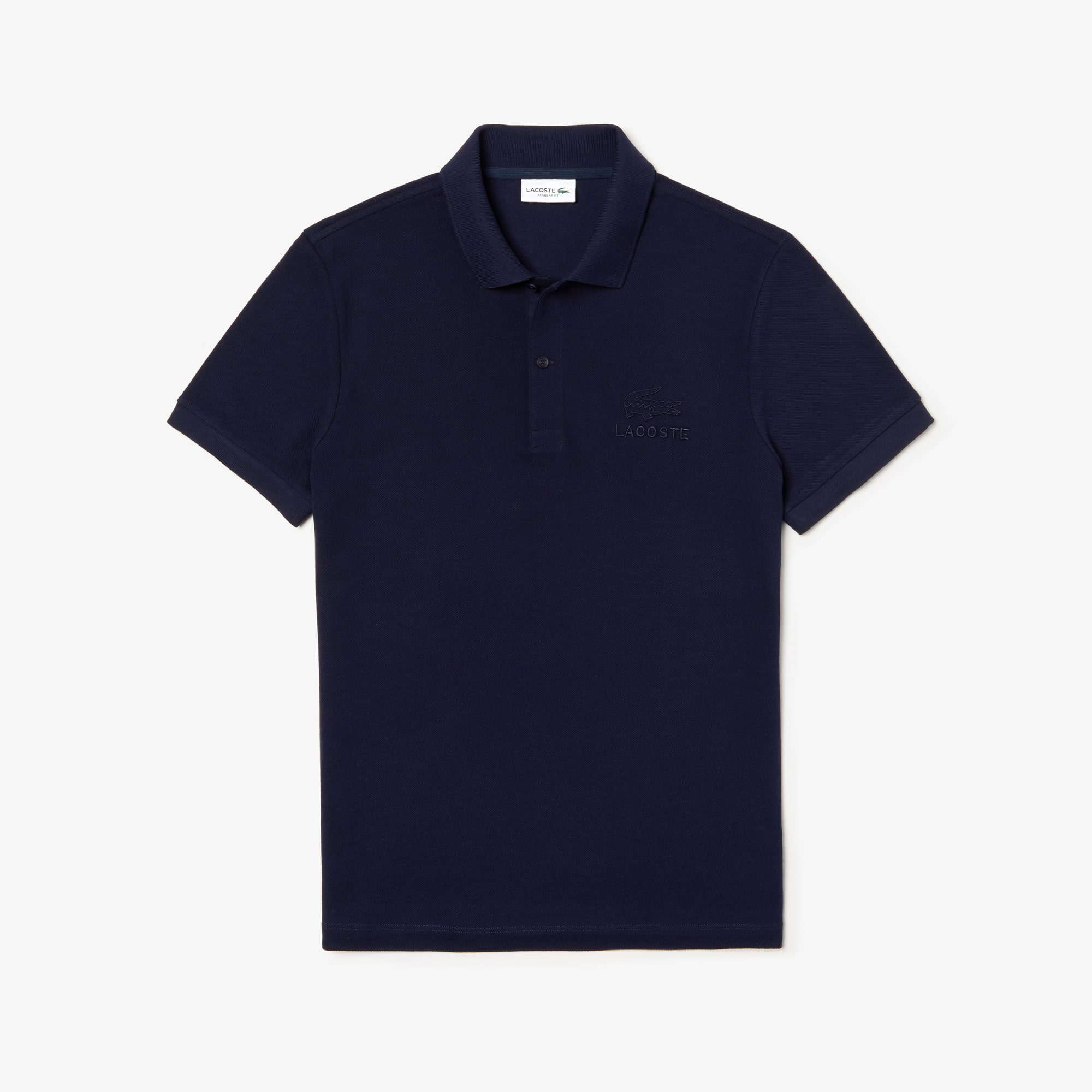 Men's Regular Fit Embroidered- Logo Cotton Piqué Polo Shirt