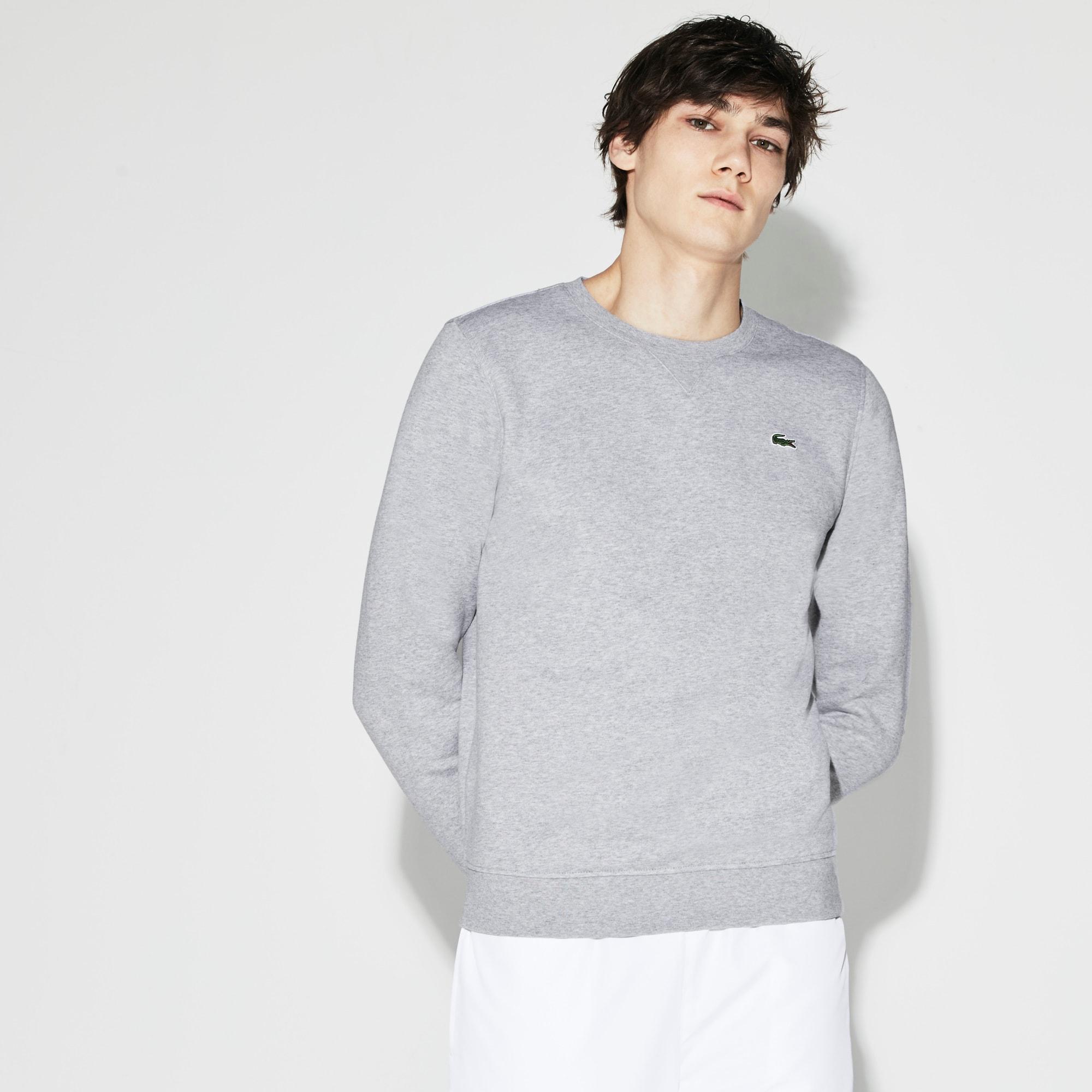 Men's SPORT crew neck sweatshirt in solid fleece