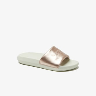 라코스테 우먼 슬라이드 Lacoste Womens Slides,PINK/OFF WHITE