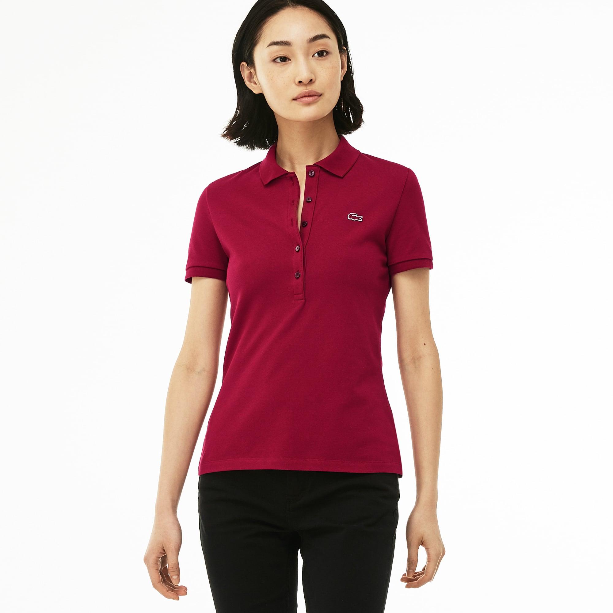 655fd59a Lacoste Women'S Slim Fit Stretch Mini Cotton PiquÉ Polo Shirt In Bordeaux