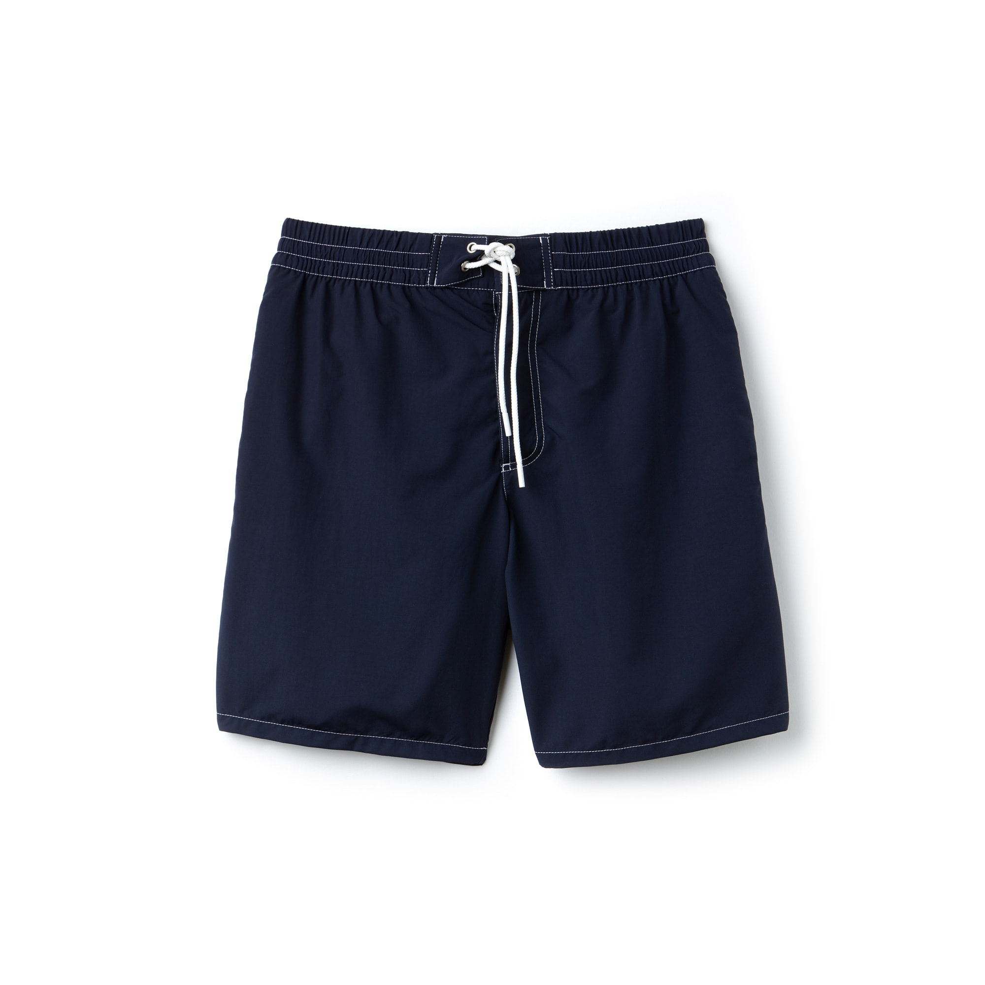 Men's Crocodile Embroidery Canvas Serge Swimming Trunks