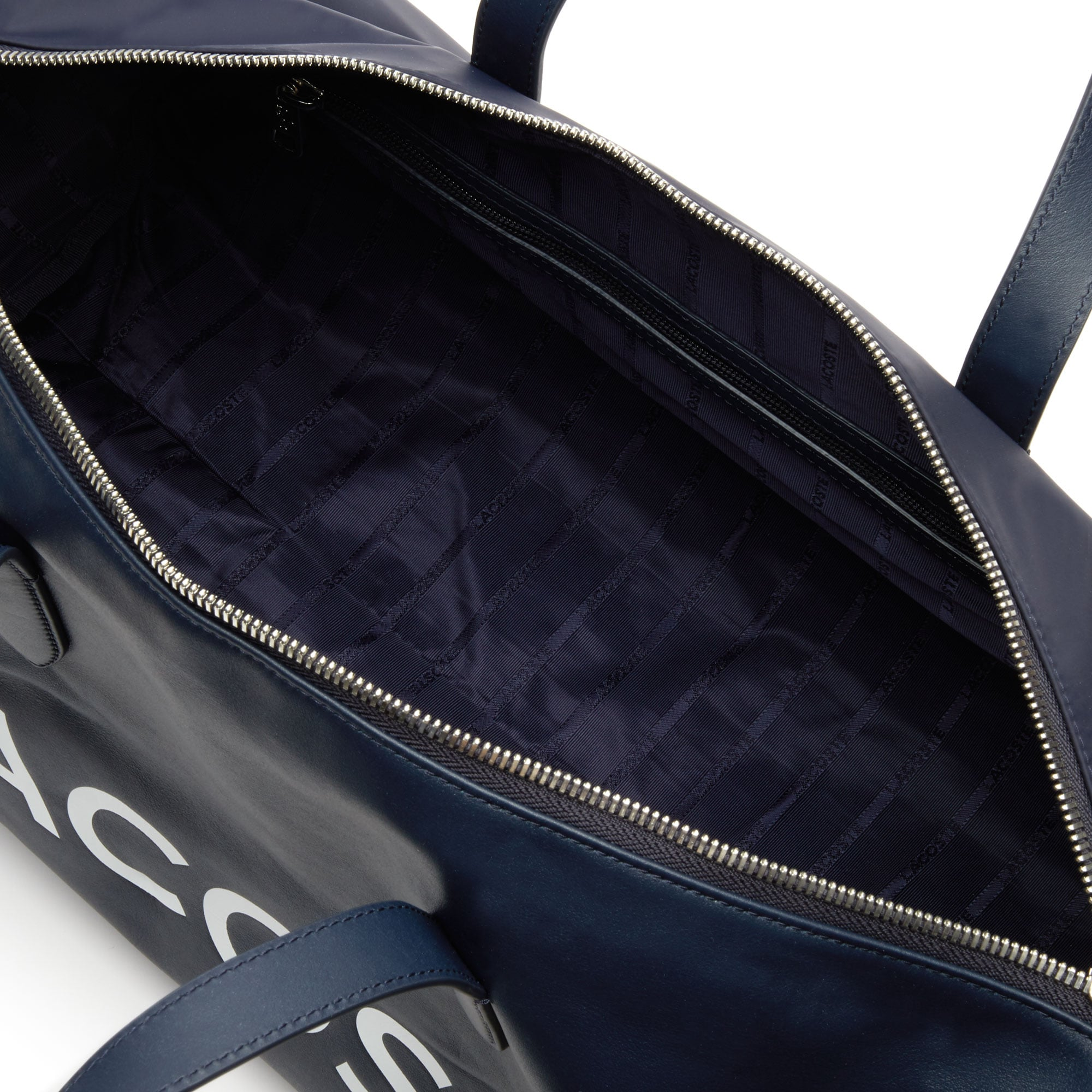 Men's L.12.12 Signature Detachable Shoulder Strap Leather Duffel Bag