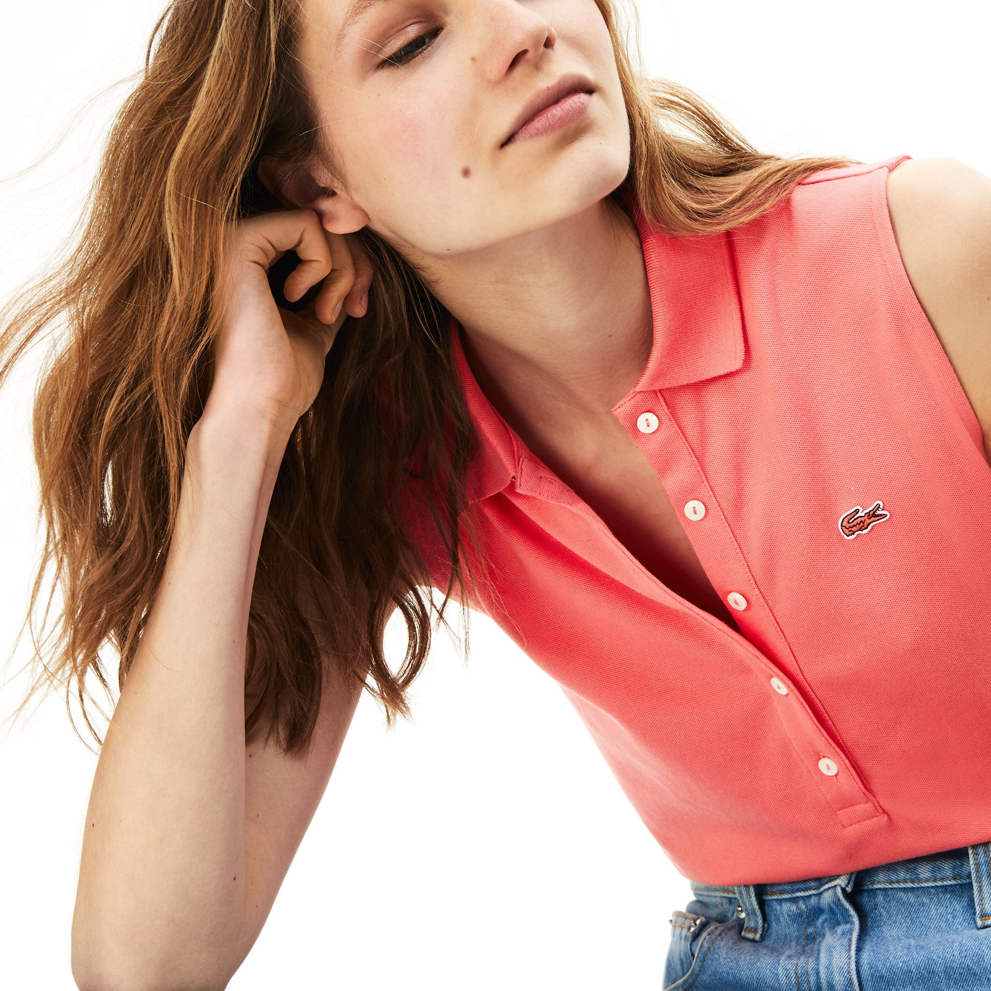 00982afb6741 Women s Slim Fit Stretch Mini Cotton Piqué Polo Shirt.  89.50. Pink · Black  · Navy Blue · White. + 3 colors