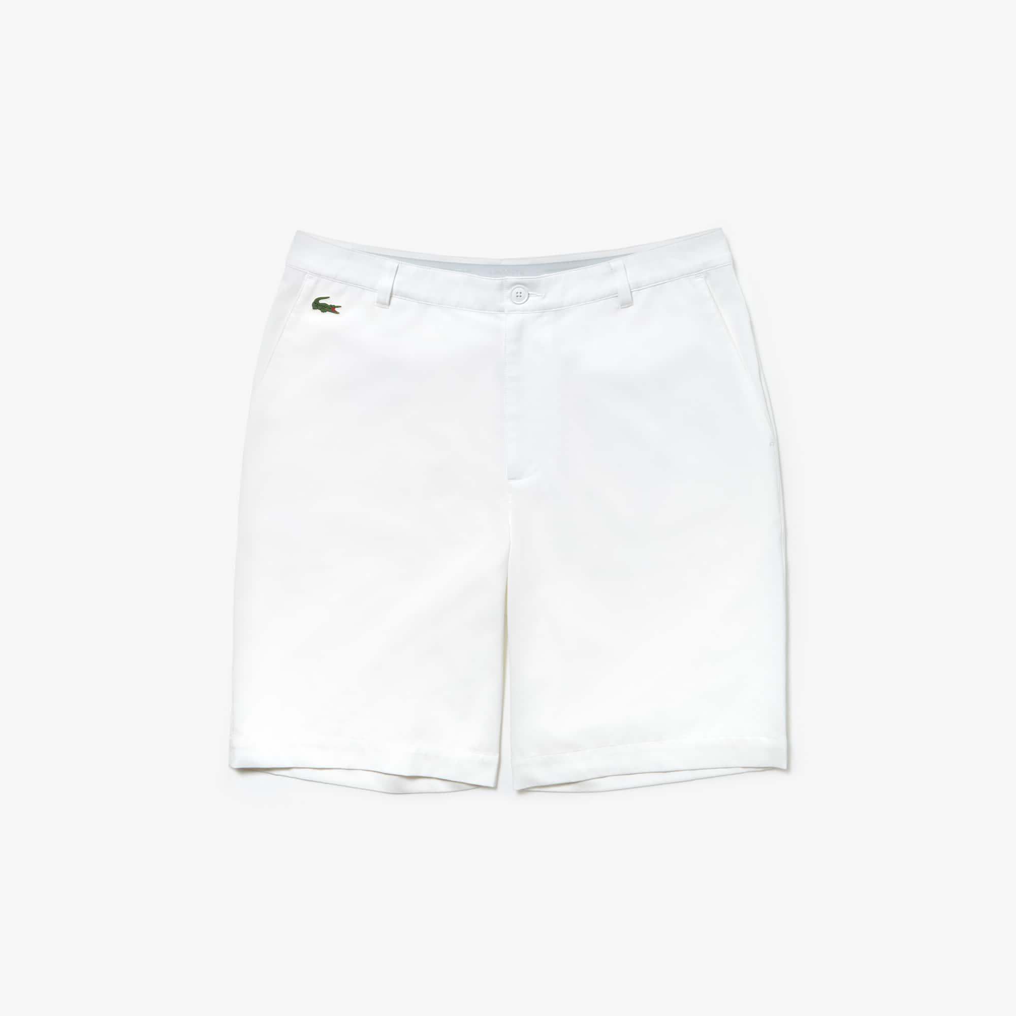 라코스테 스포츠 반바지 Lacoste Mens SPORT Stretch Taffeta Technical Golf Bermuda Shorts,white