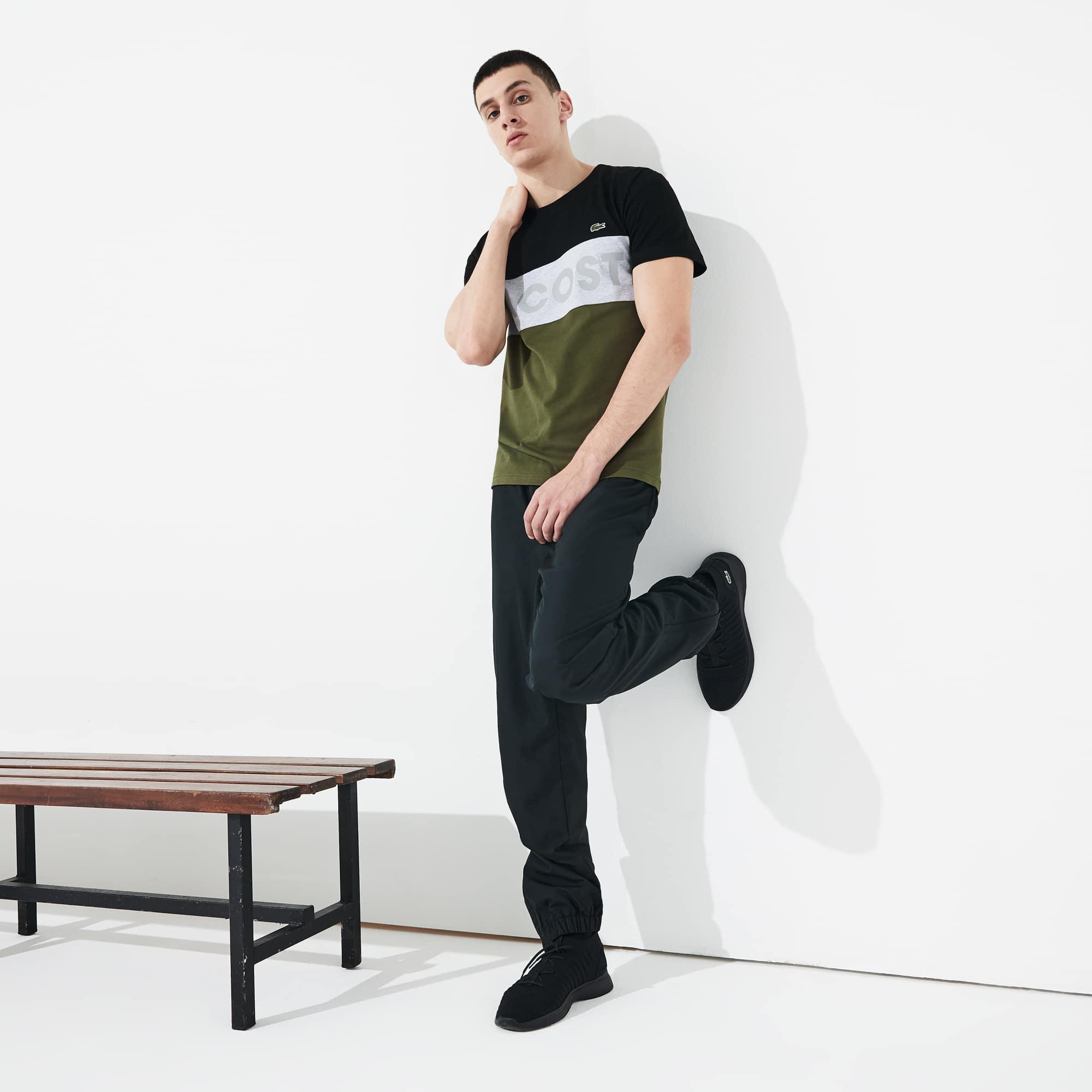 Lacoste Tops Men's SPORT Color-Blocked Cotton T-Shirt
