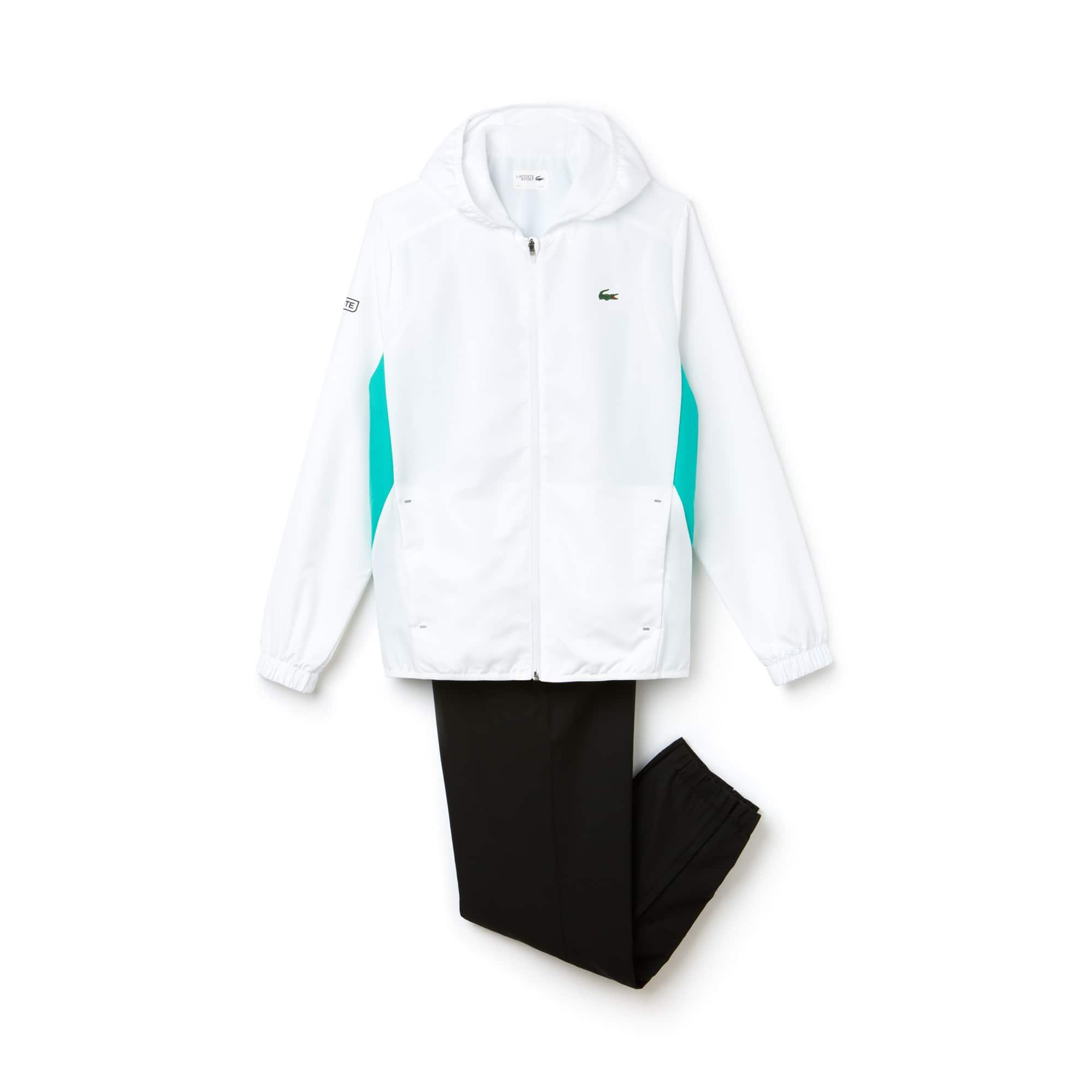 라코스테 스포츠 트랙 수트 Lacoste Mens SPORT Colorblock Taffeta Tennis Tracksuit,white/papeete-black