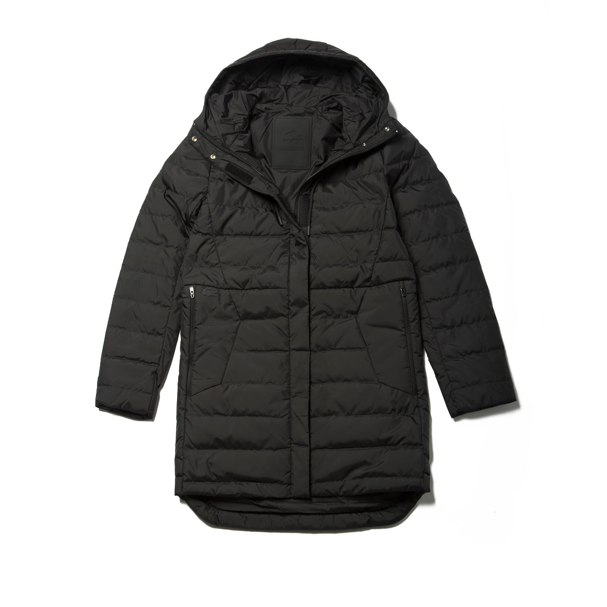 Women's Long Hooded Quilted Down Jacket | LACOSTE