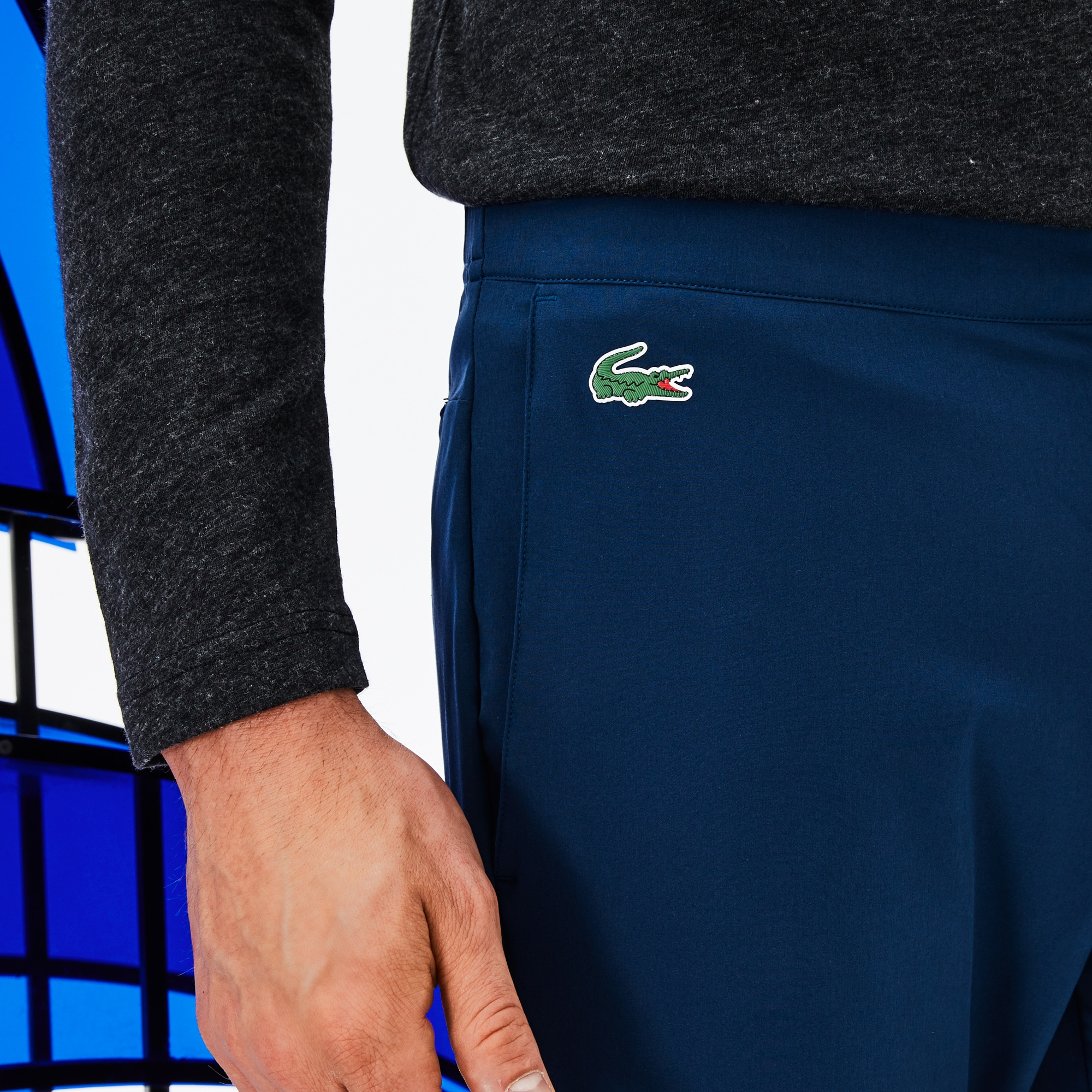 Men's SPORT Stretch Technical Midlayer Trackpants - Lacoste x Novak Djokovic Off Court Premium Edition