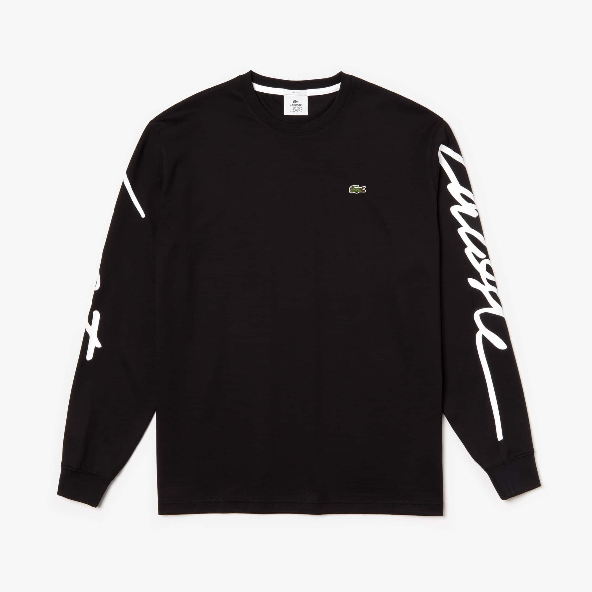Lacoste Cottons Unisex LIVE Signature Print T-shirt