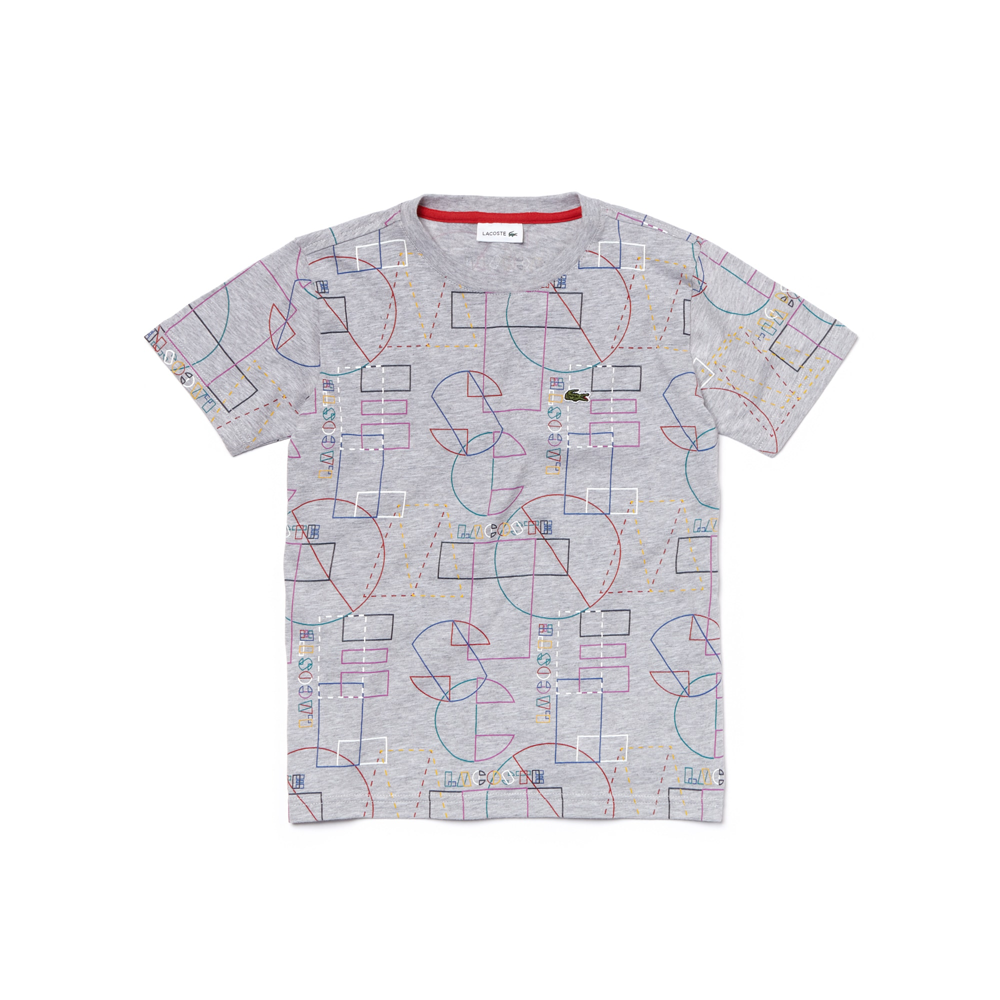 Boys' Crew Neck Geometric Print Cotton Jersey T-shirt