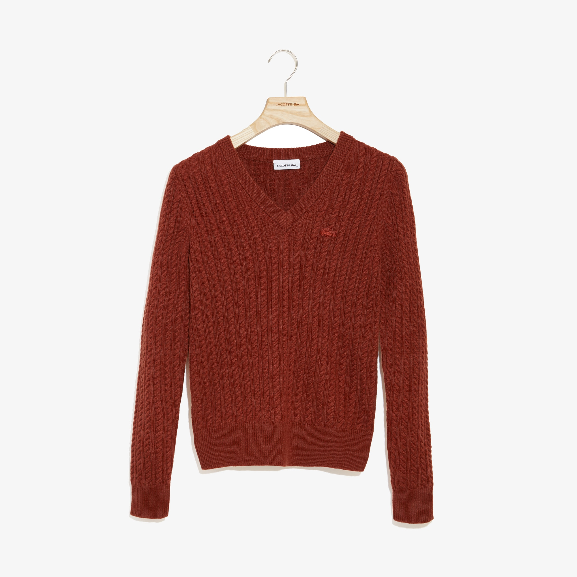 Women's Wool And Cashmere Blend Cable Knit Sweater