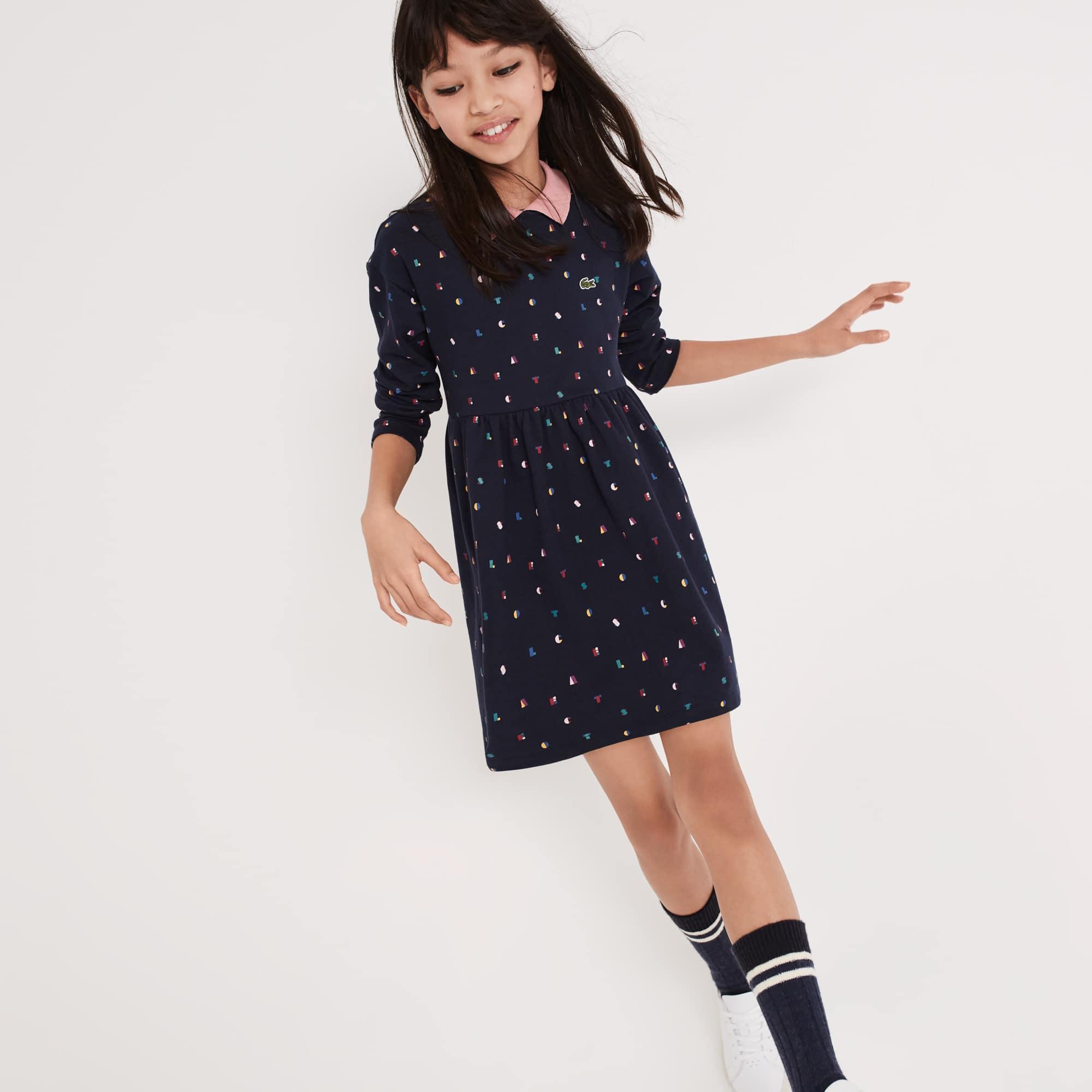Girls' Print Fleece Polo Dress