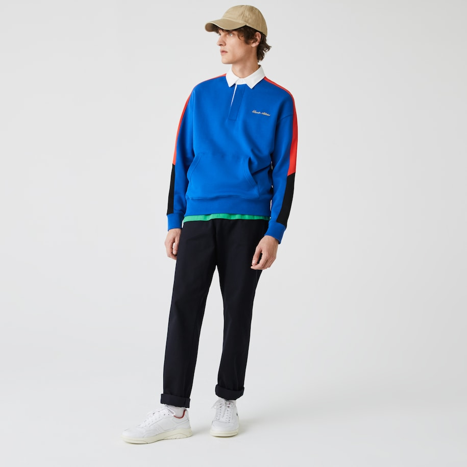 Men's LIVE Colorblock Fleece Polo Sweatshirt