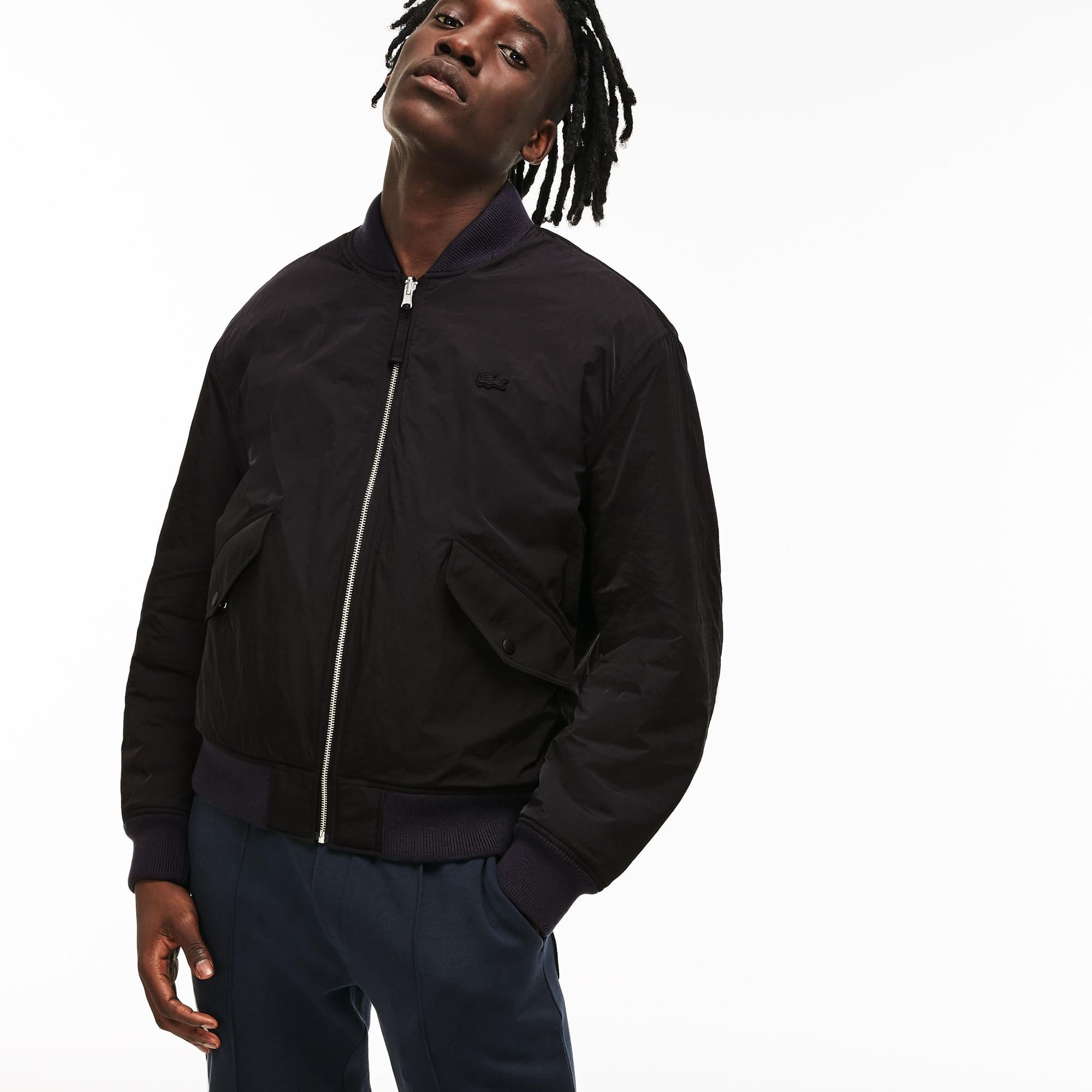 Unisex LIVE Reversible Nylon And Fleece Bomber Jacket
