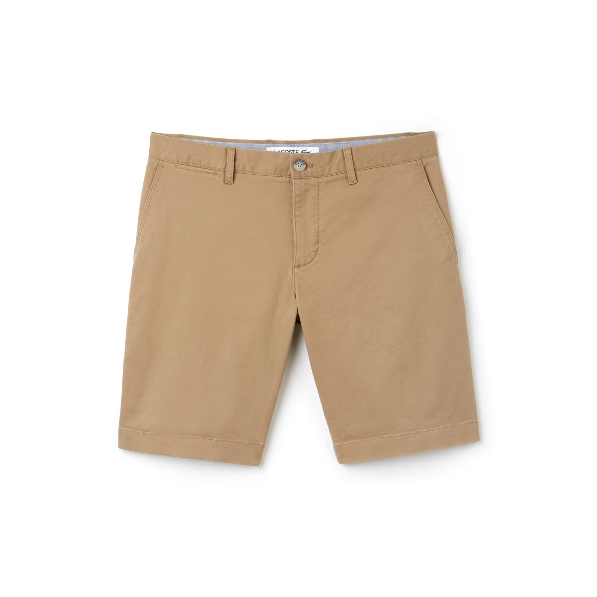 라코스테 반바지 (슬림핏) Lacoste Mens Slim Fit Stretch Gabardine Bermuda Shorts,beige