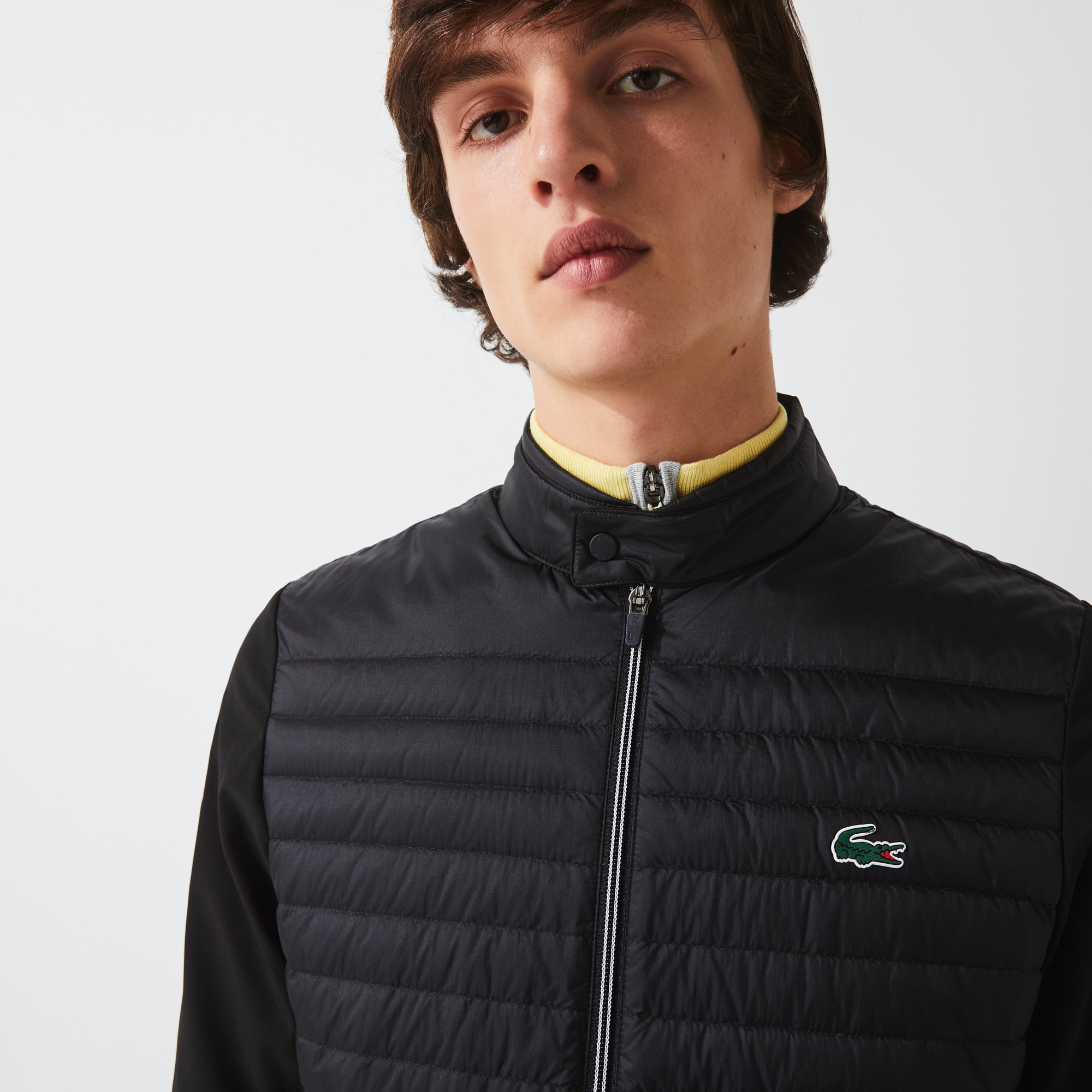라코스테 Lacoste Mens SPORT Lightweight Water-Resistant Quilted Jacket